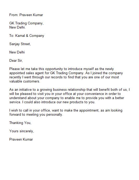 Free Introduction Letter Template 42