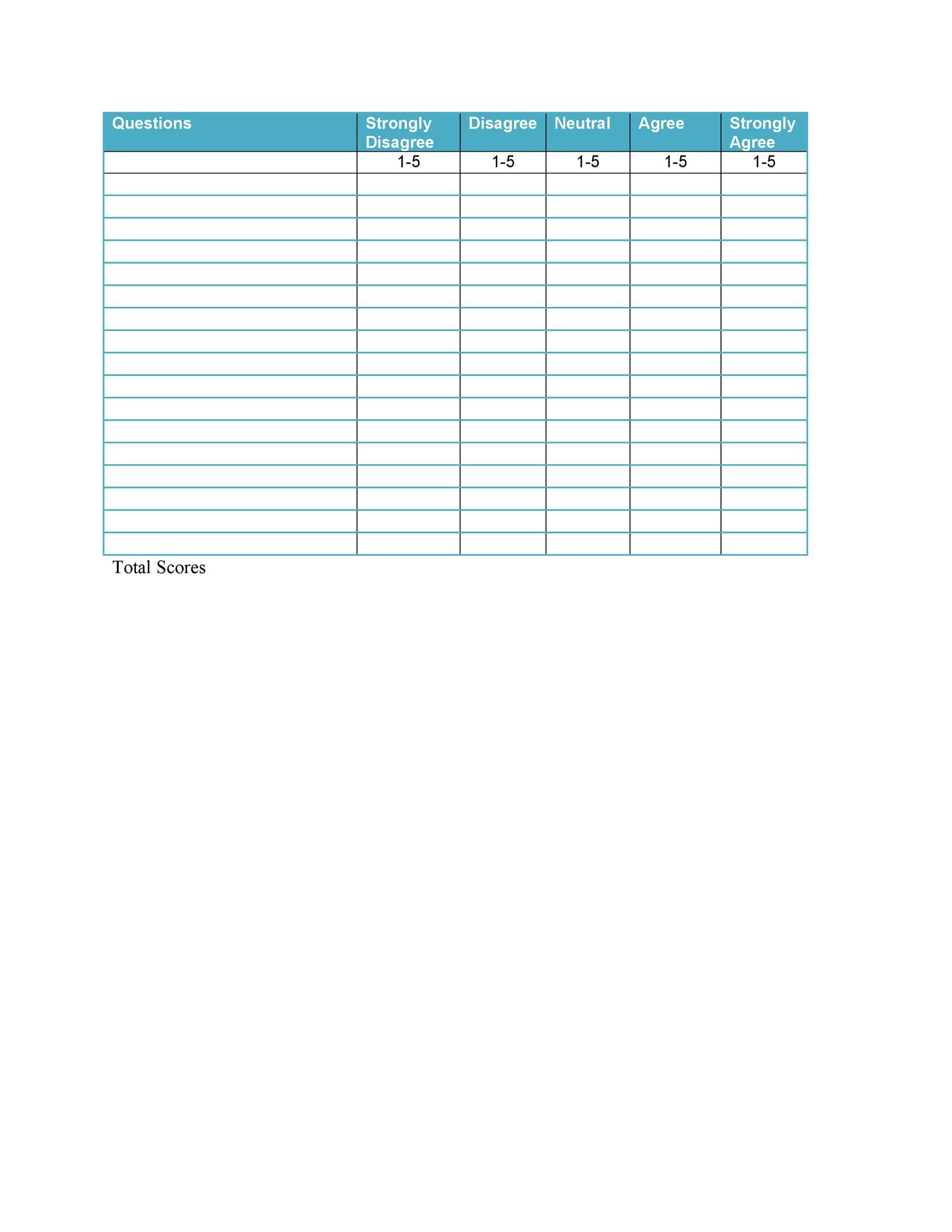 Free Likert Scale 01