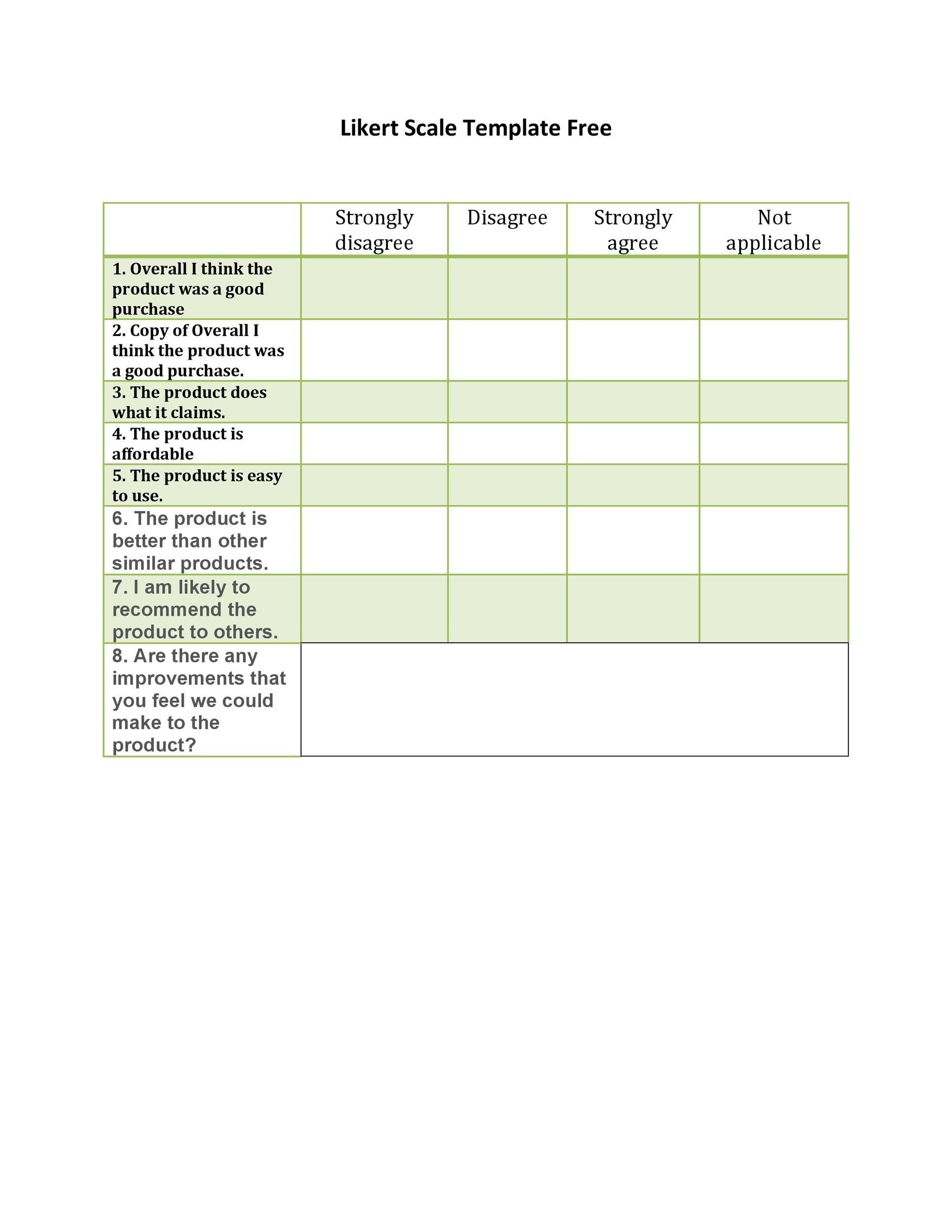 Free Likert Scale 04