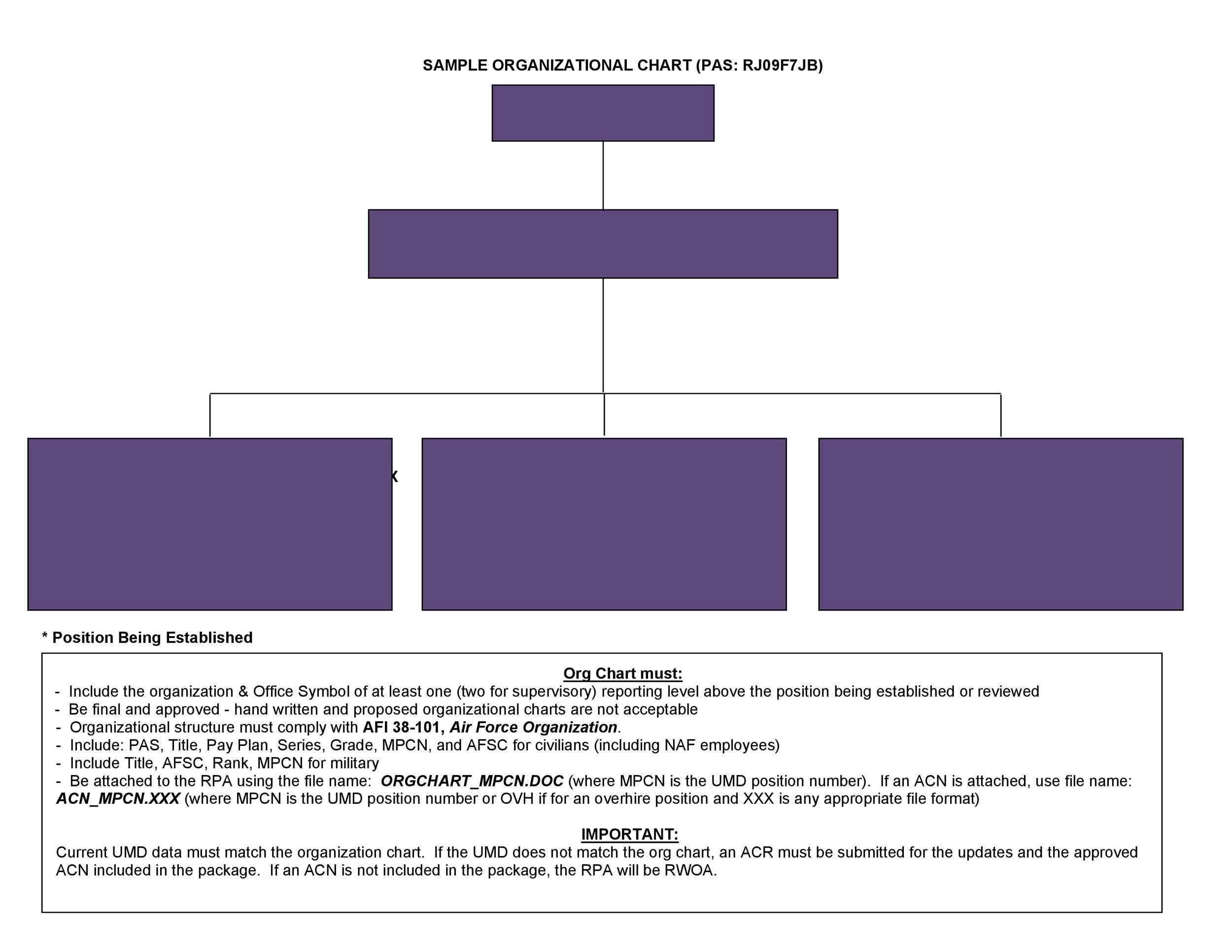 Free Organizational Chart Template 03
