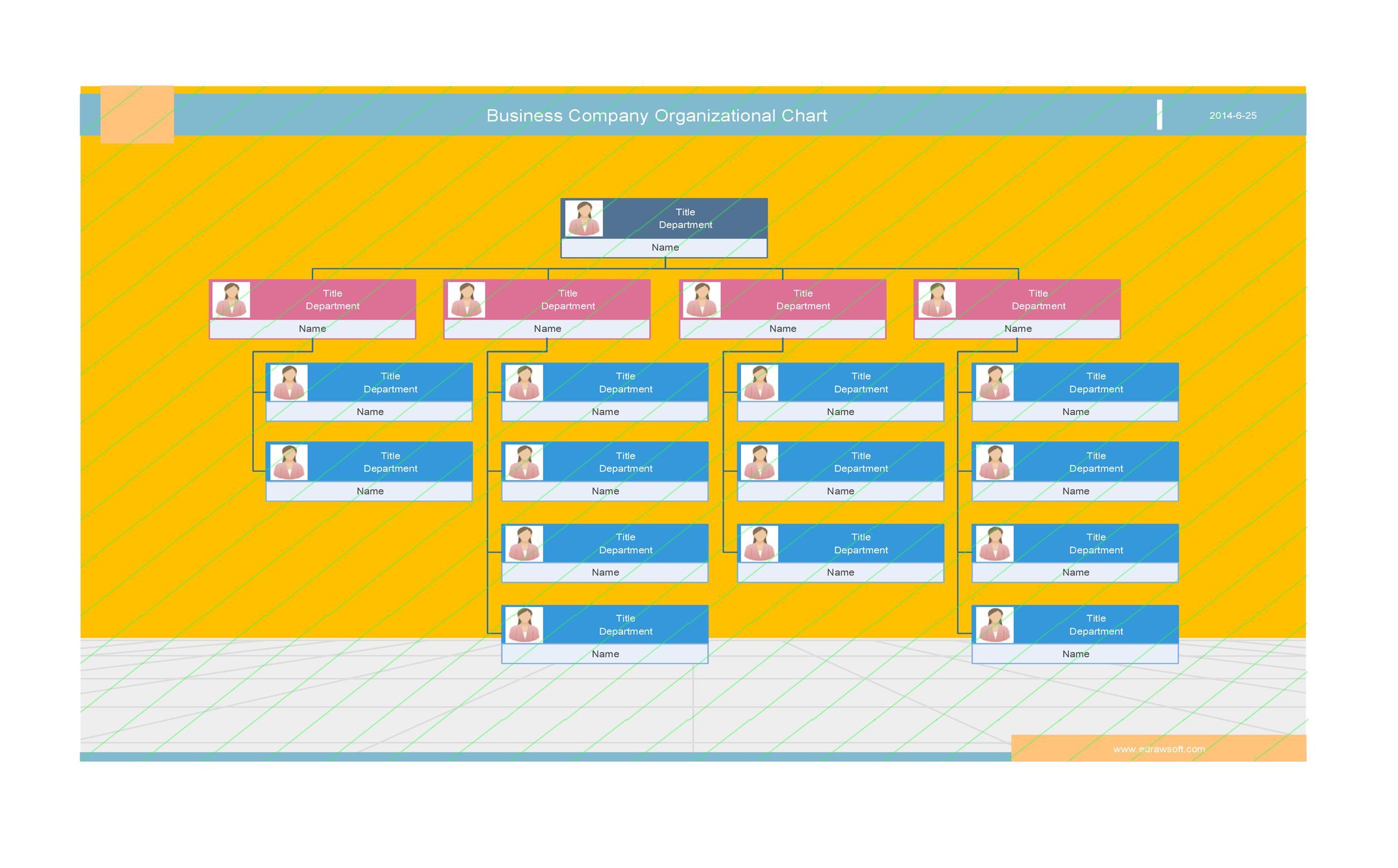 Free Organizational Chart Template 22