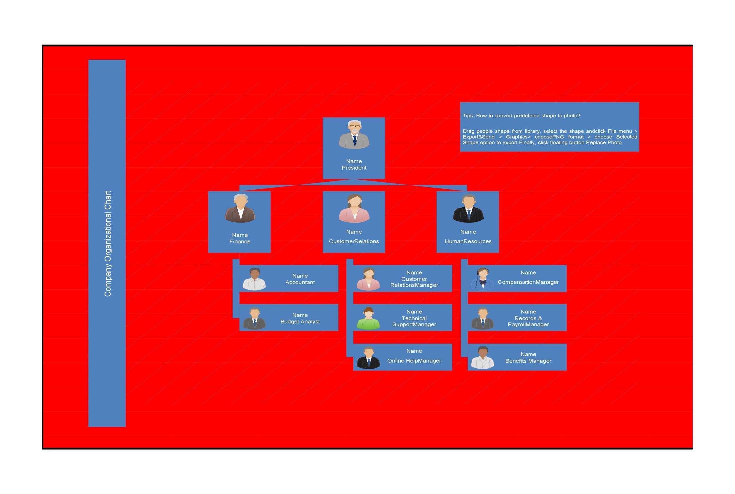 Free Organizational Chart Template 24