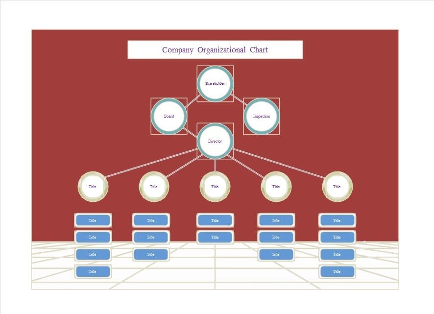 Free Organizational Chart Template 26