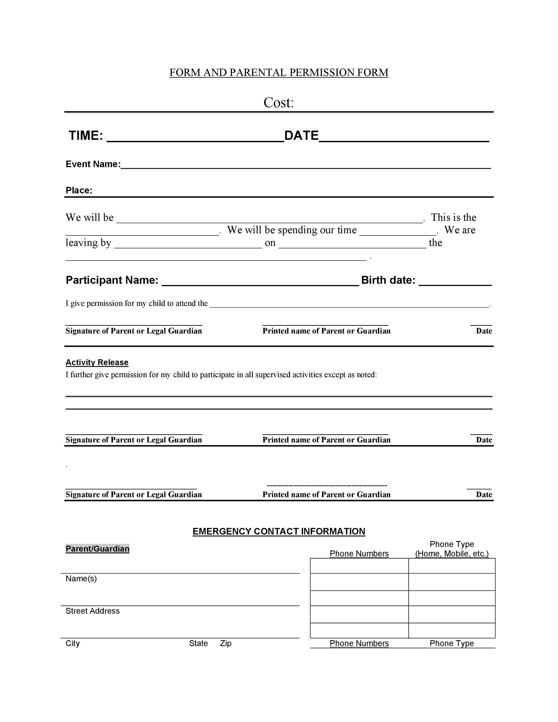 Field Trip Permission Form Template from templatelab.com