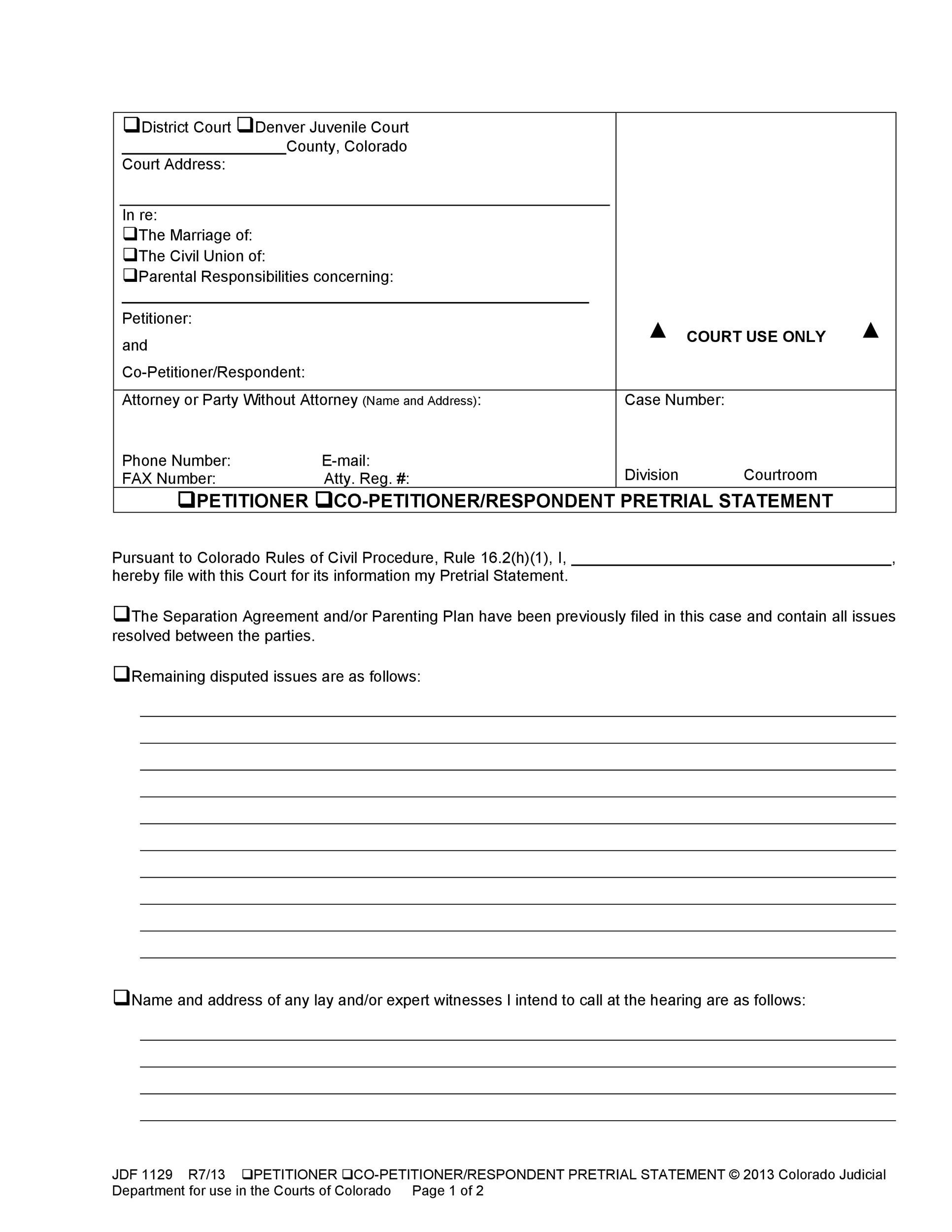 Free Petition template 20