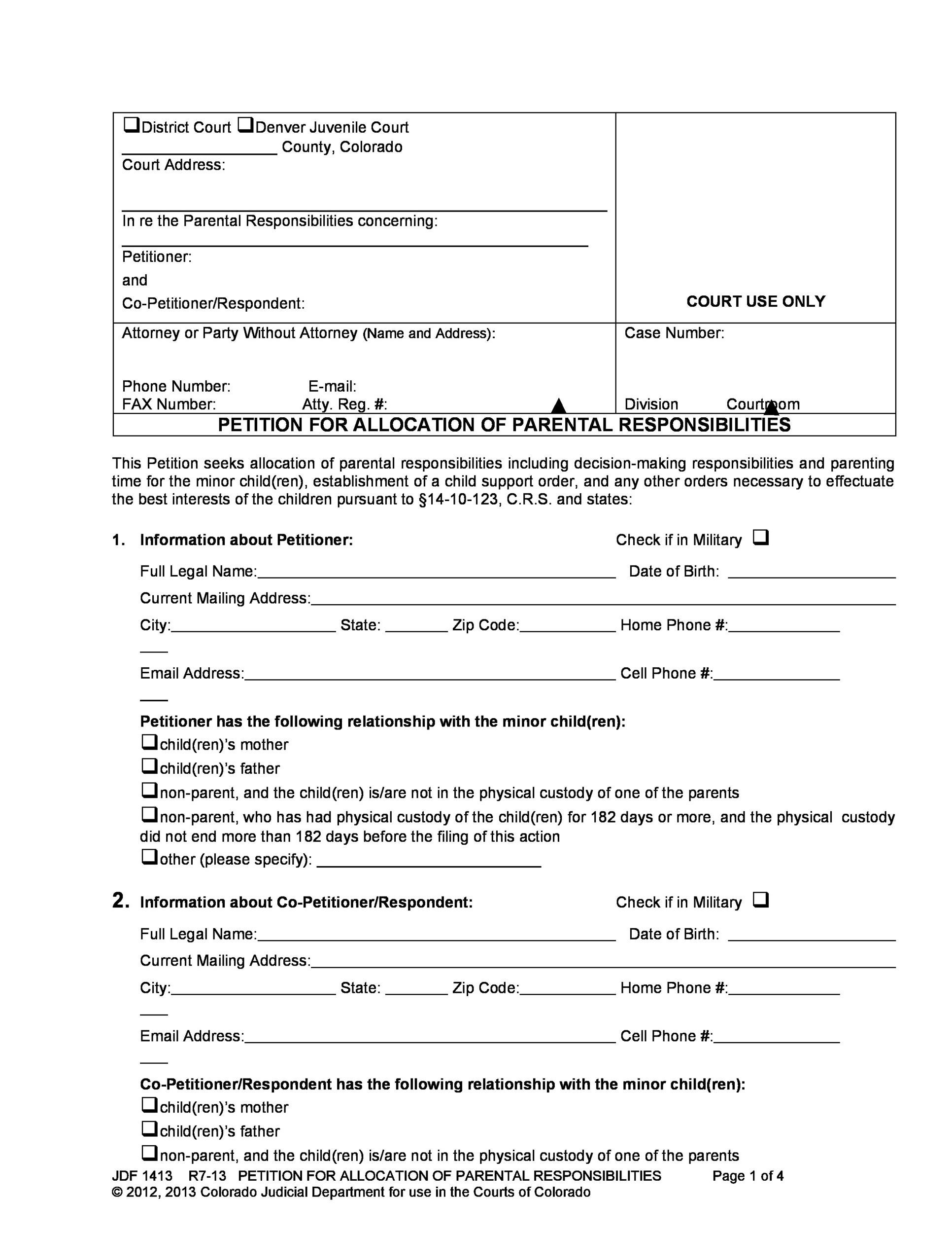 Free Petition template 21