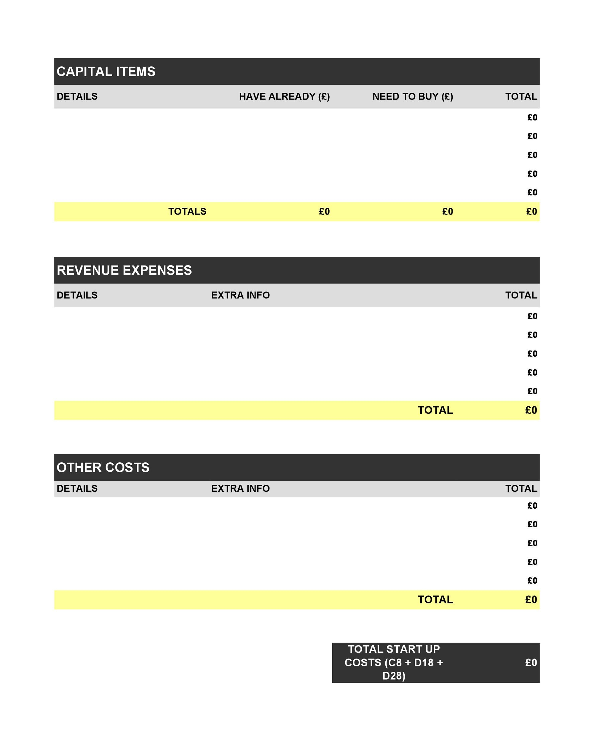 Printable Profit And Loss Statement Template 03  Generic Profit And Loss Statement