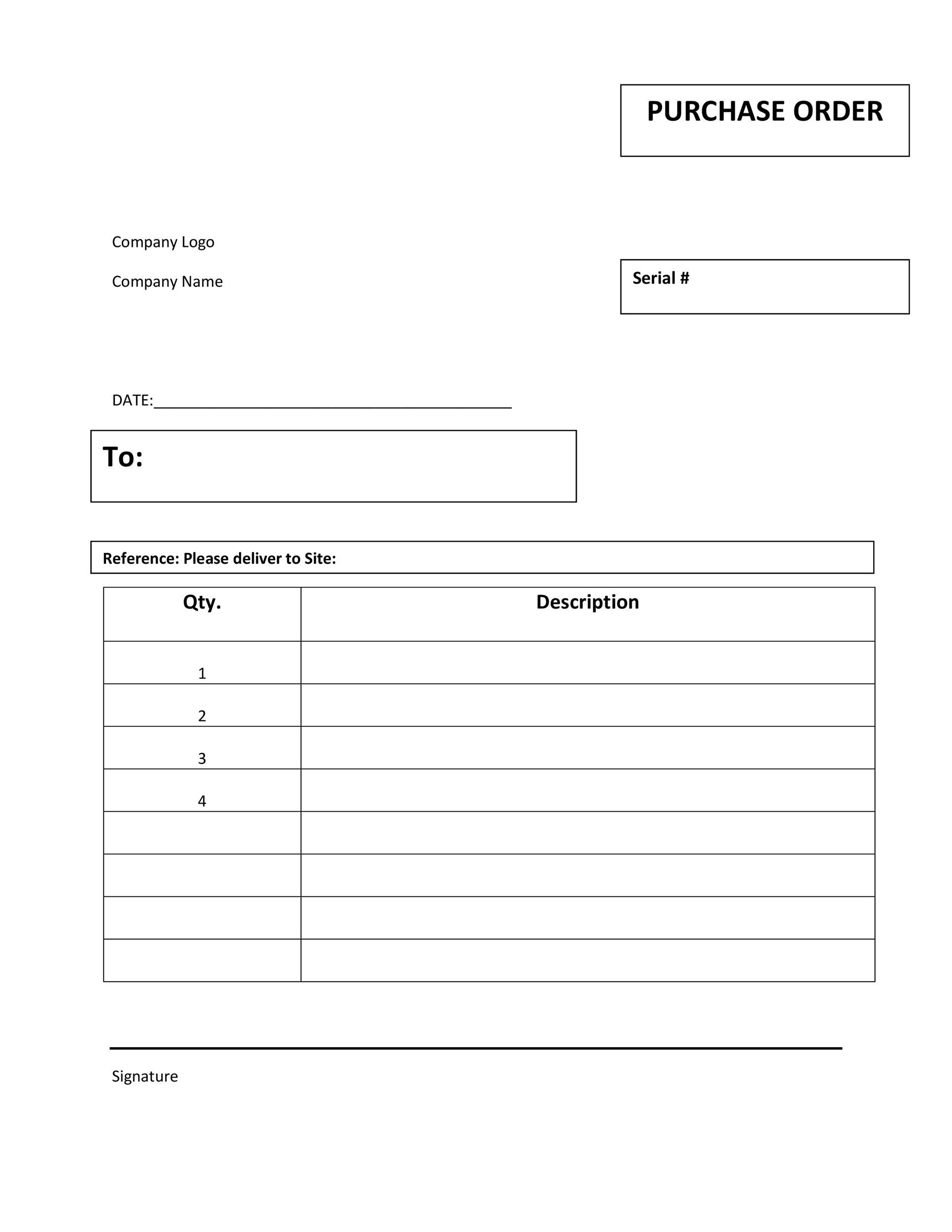 Free Purchase Order Template 09