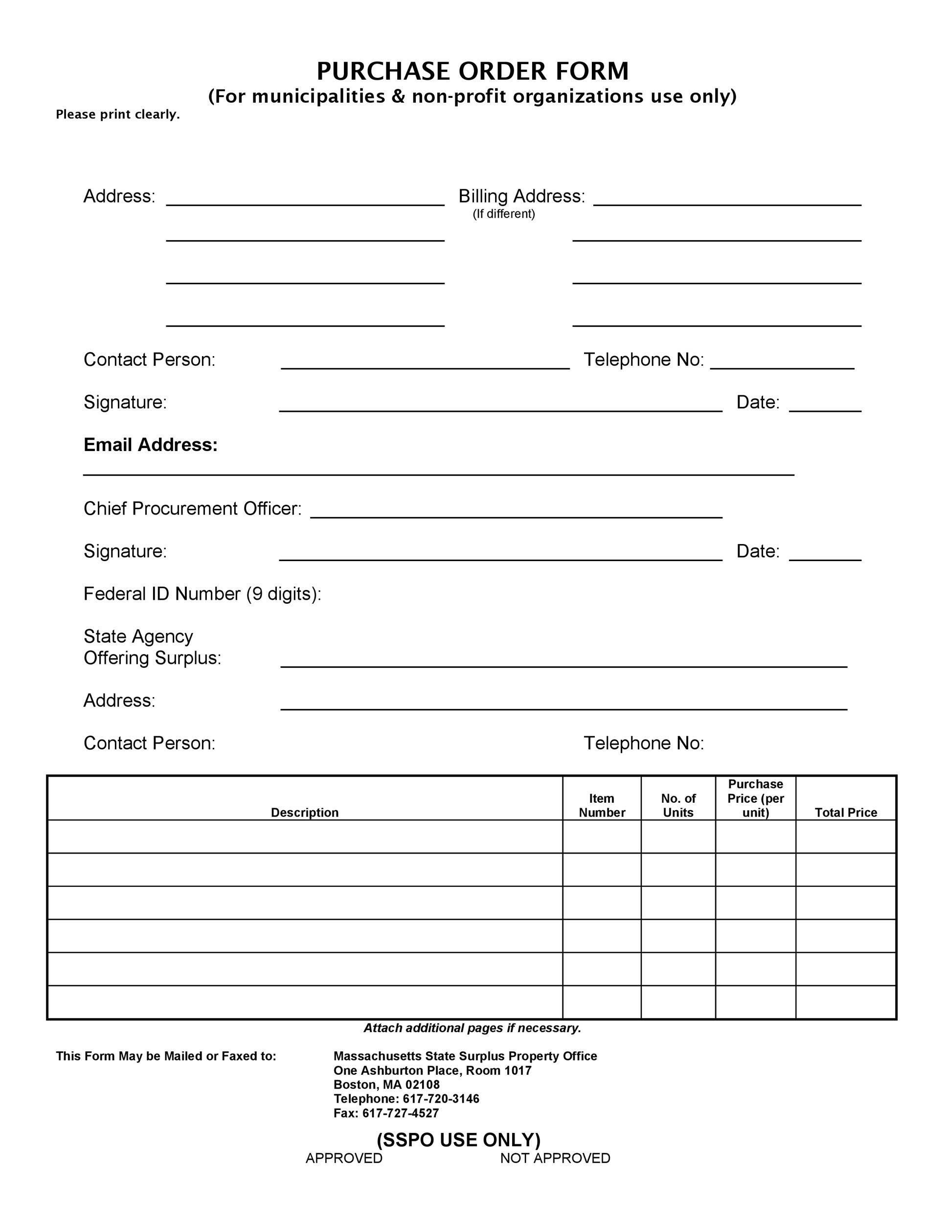 Free Purchase Order  Template 19