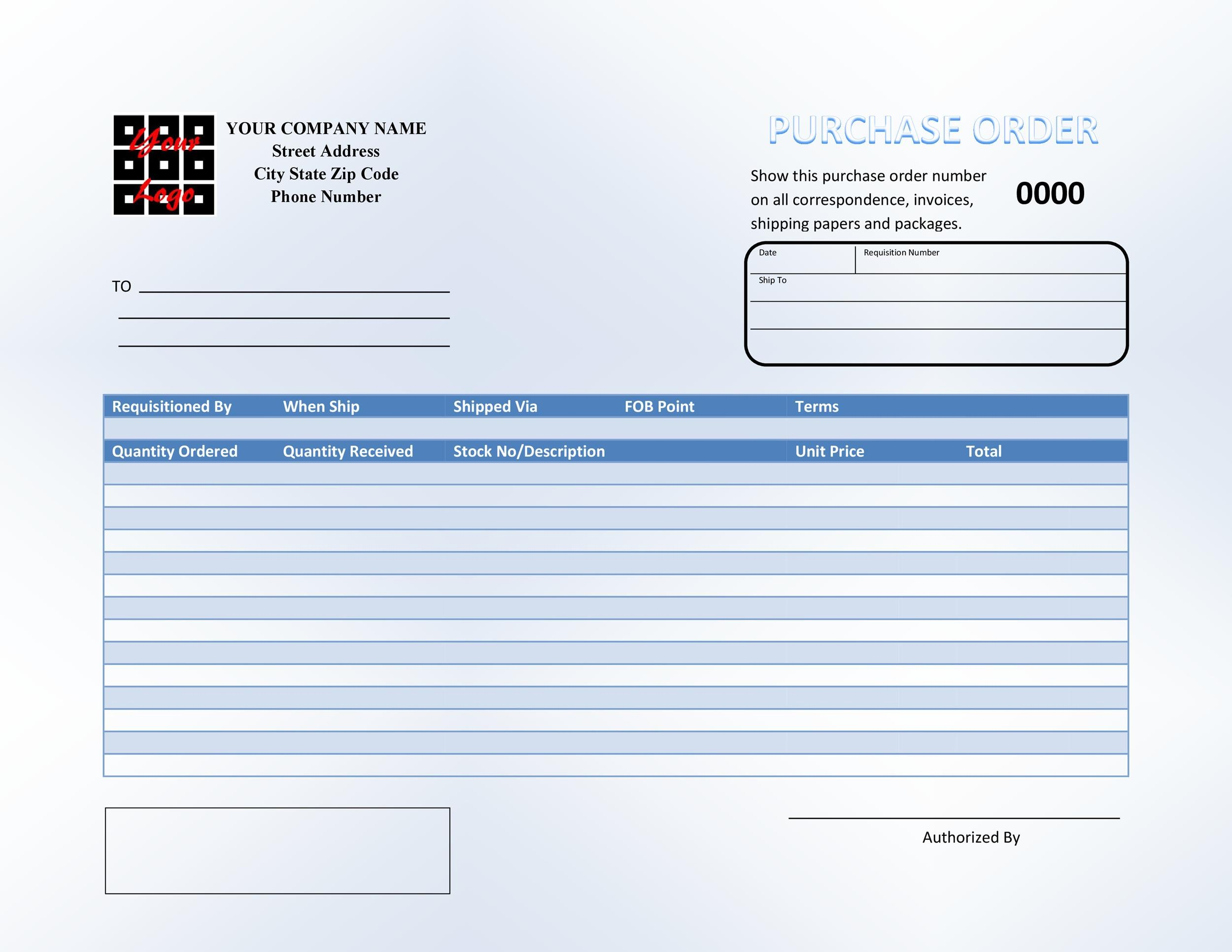 Free Purchase Order  Template 21