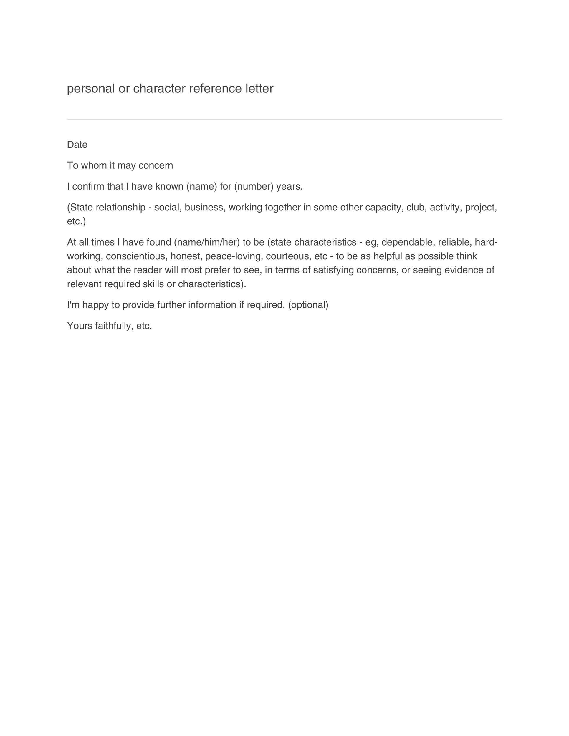 Business Reference Letter Recommendation Letter For Company