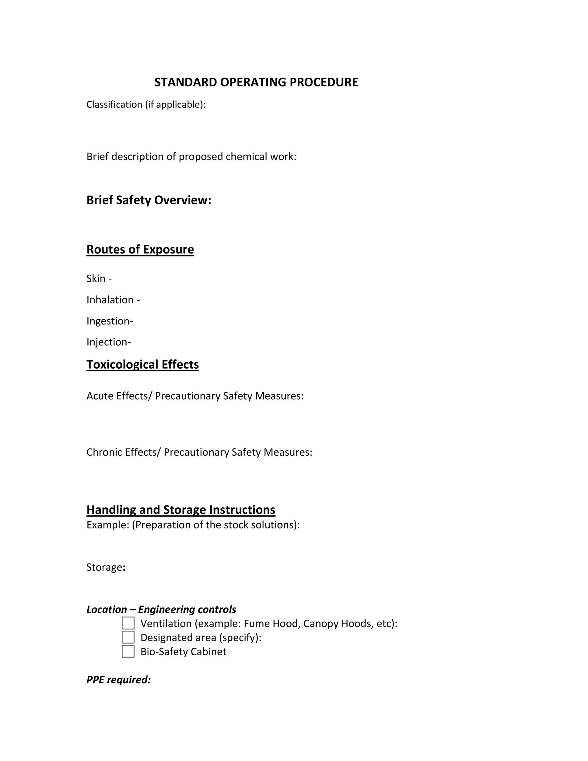 free manufacturing work instructions template