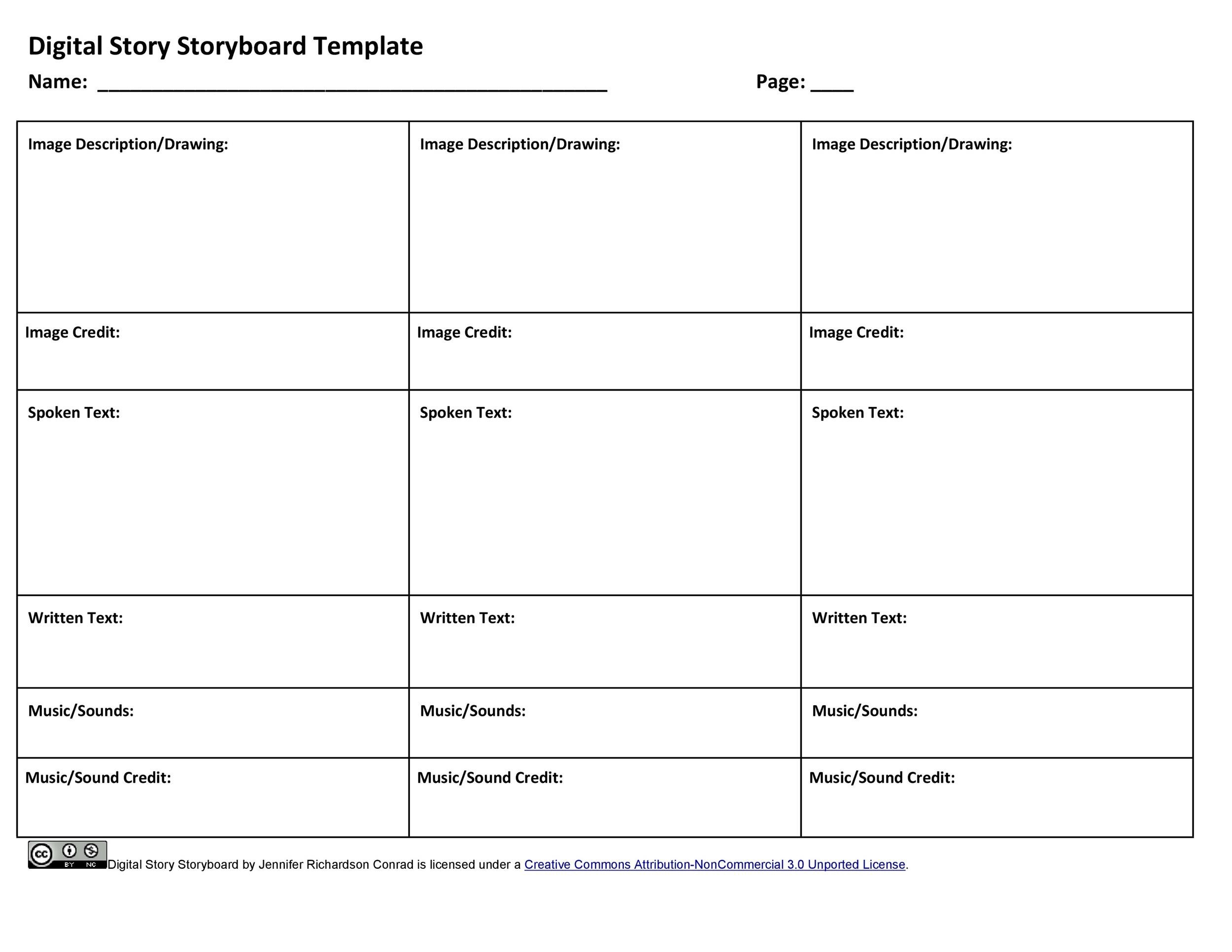 picture relating to Printable Storyboard known as 40 Experienced Storyboard Templates Illustrations