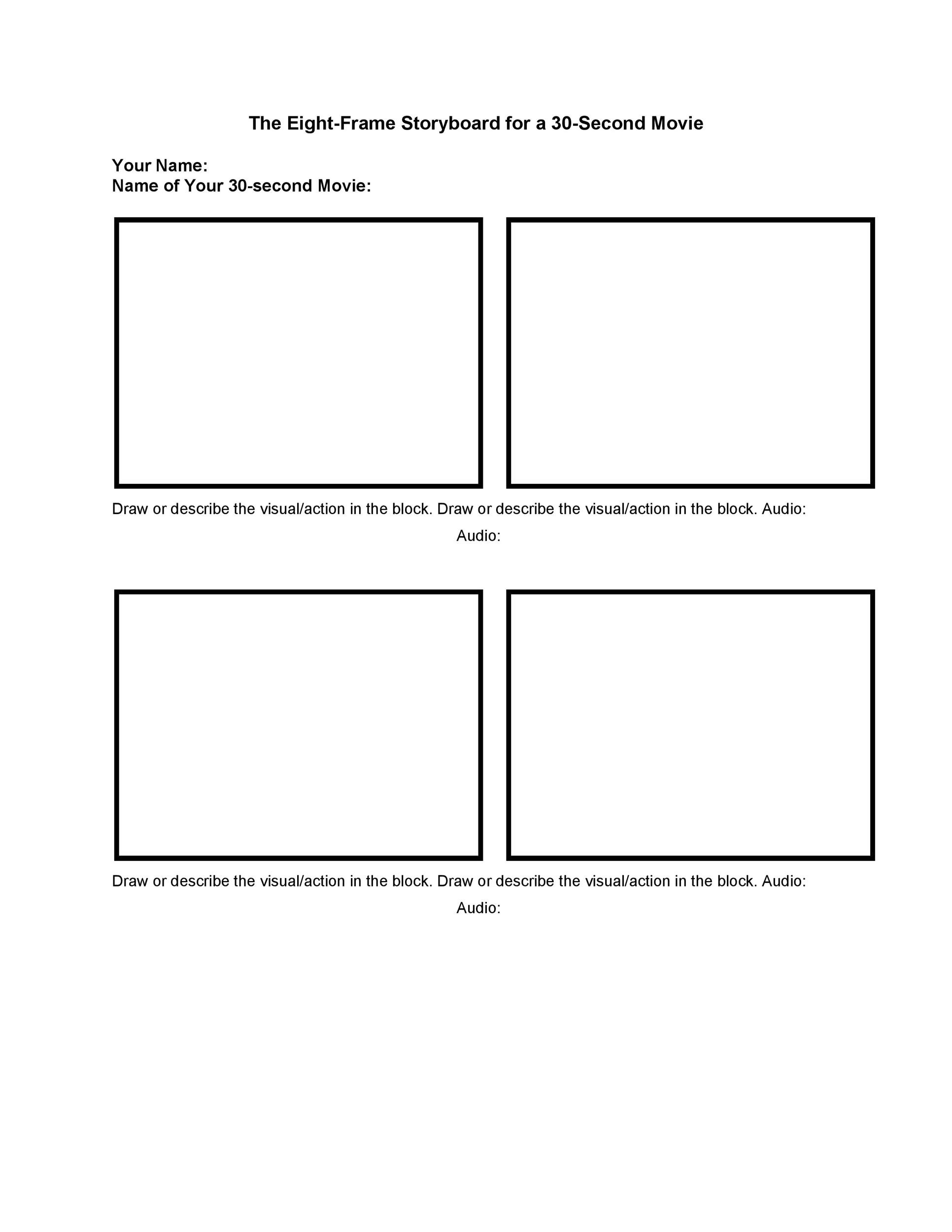 Professional Storyboard Templates  Examples