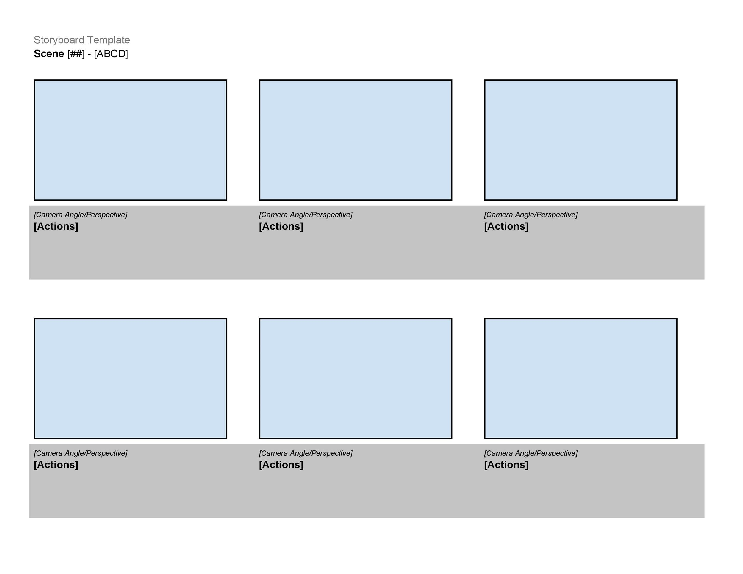 40 Professional Storyboard Templates Examples