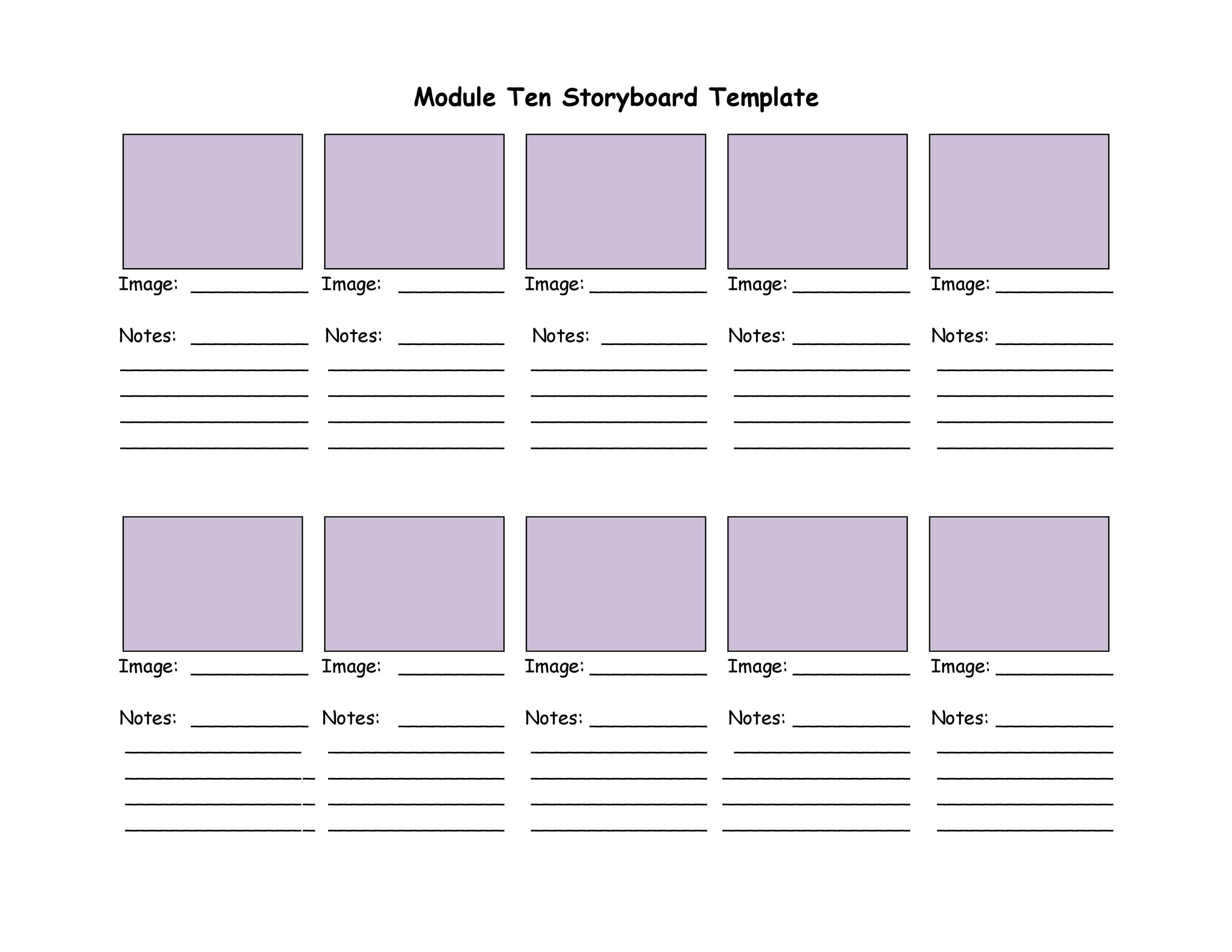 graphic regarding Storyboard Template Printable named 40 Knowledgeable Storyboard Templates Illustrations