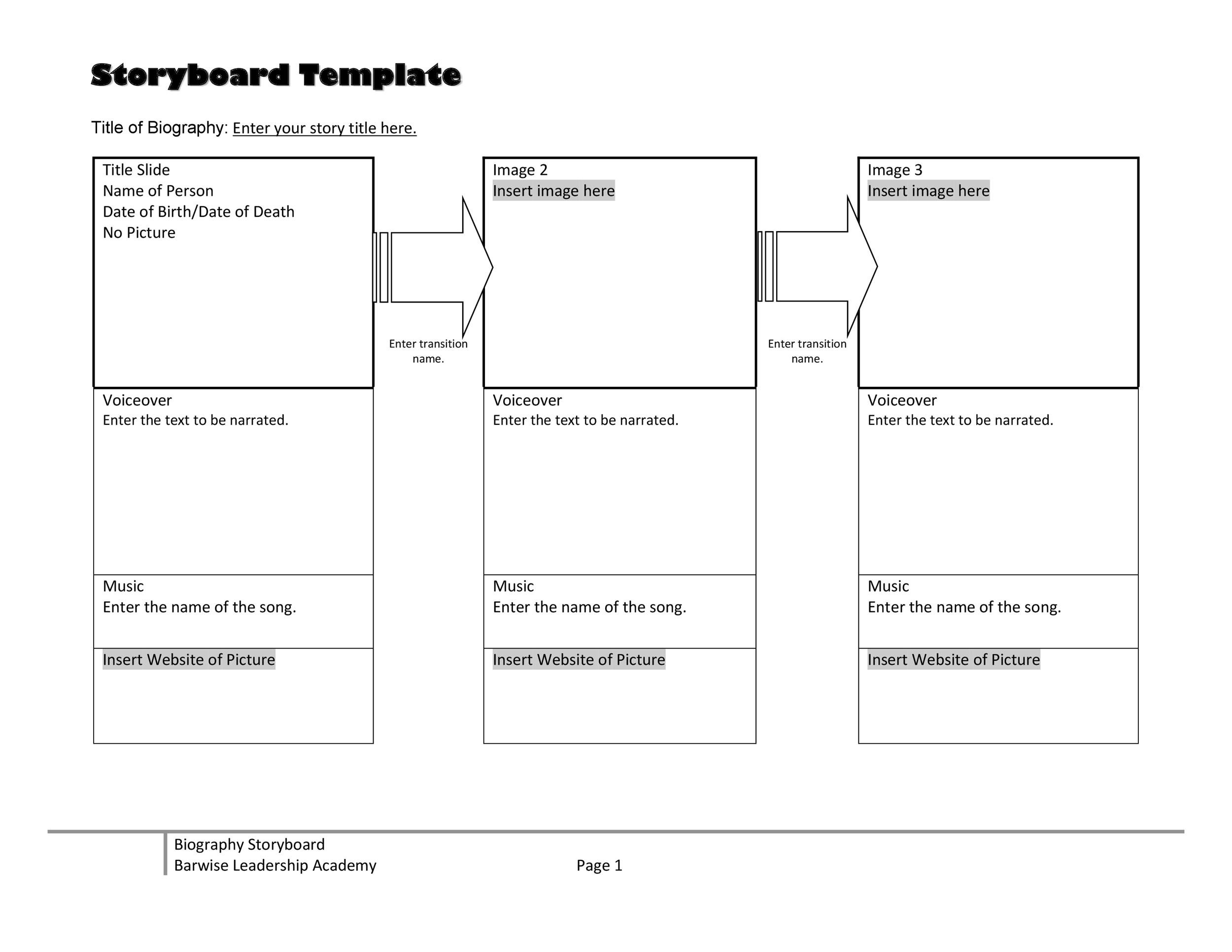 image regarding Storyboard Template Printable named 40 Experienced Storyboard Templates Illustrations
