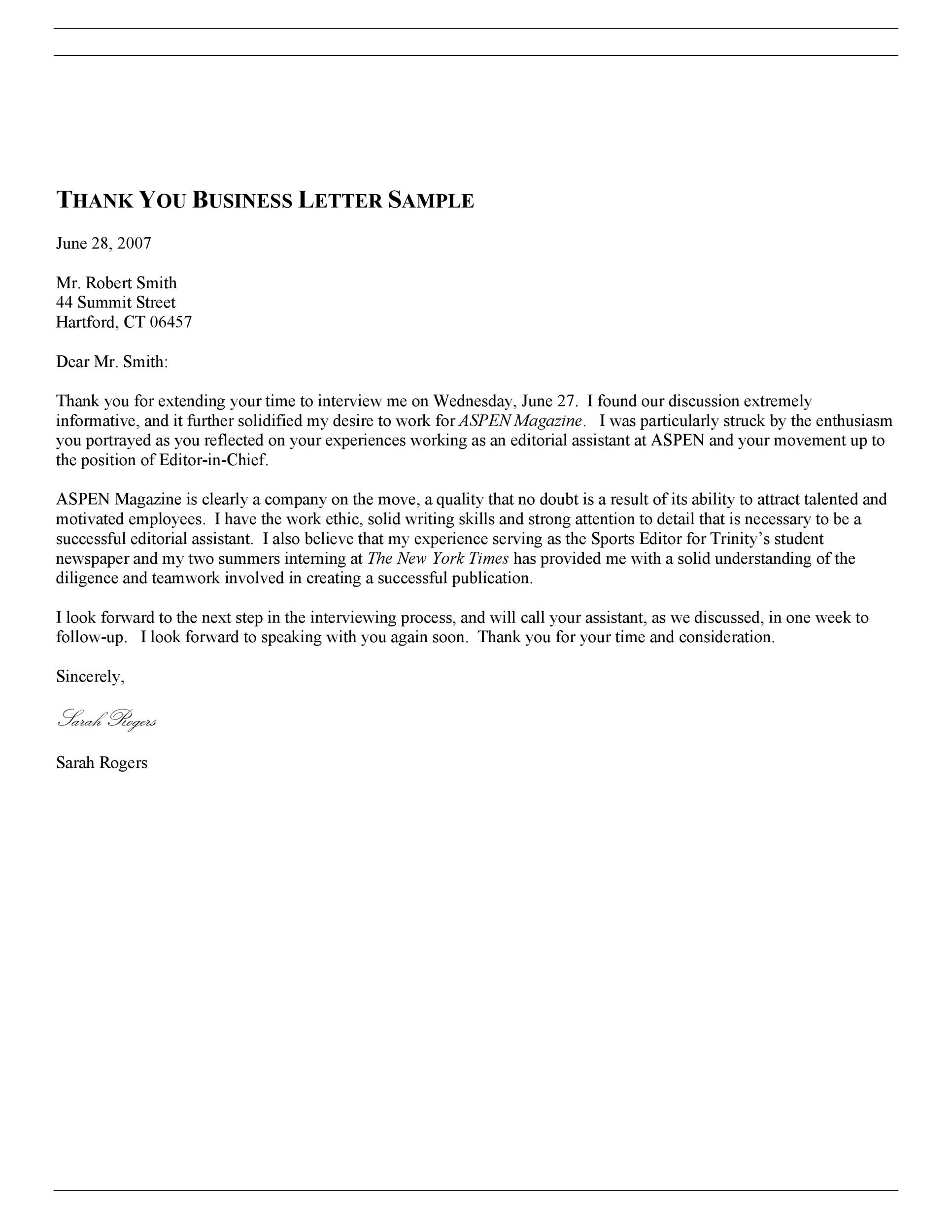 30 Thank you Letter Templates ScholarshipDonationBoss – Thank You for Your Business Letter