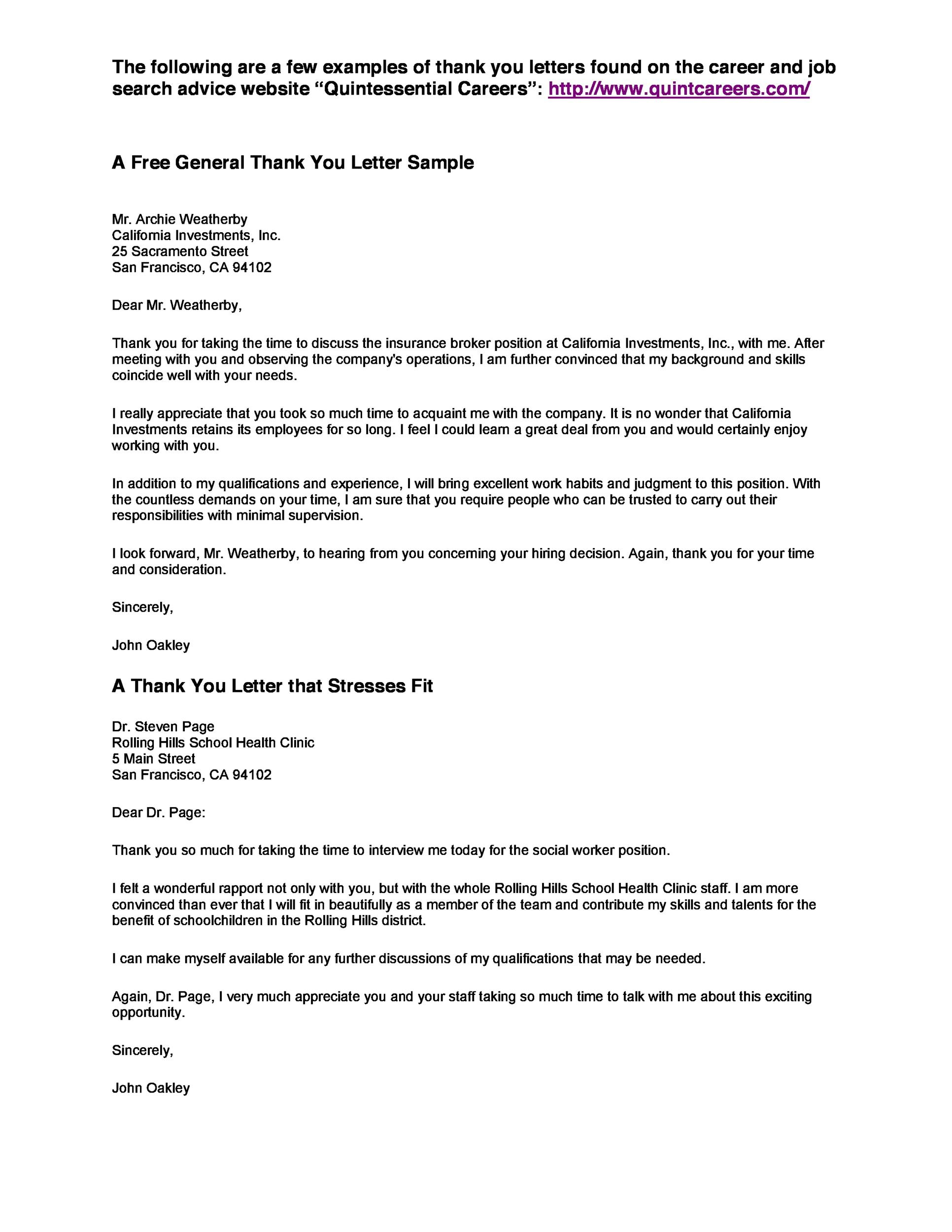 Thank You Letter To Employees Entry Level Housekeeper Cover