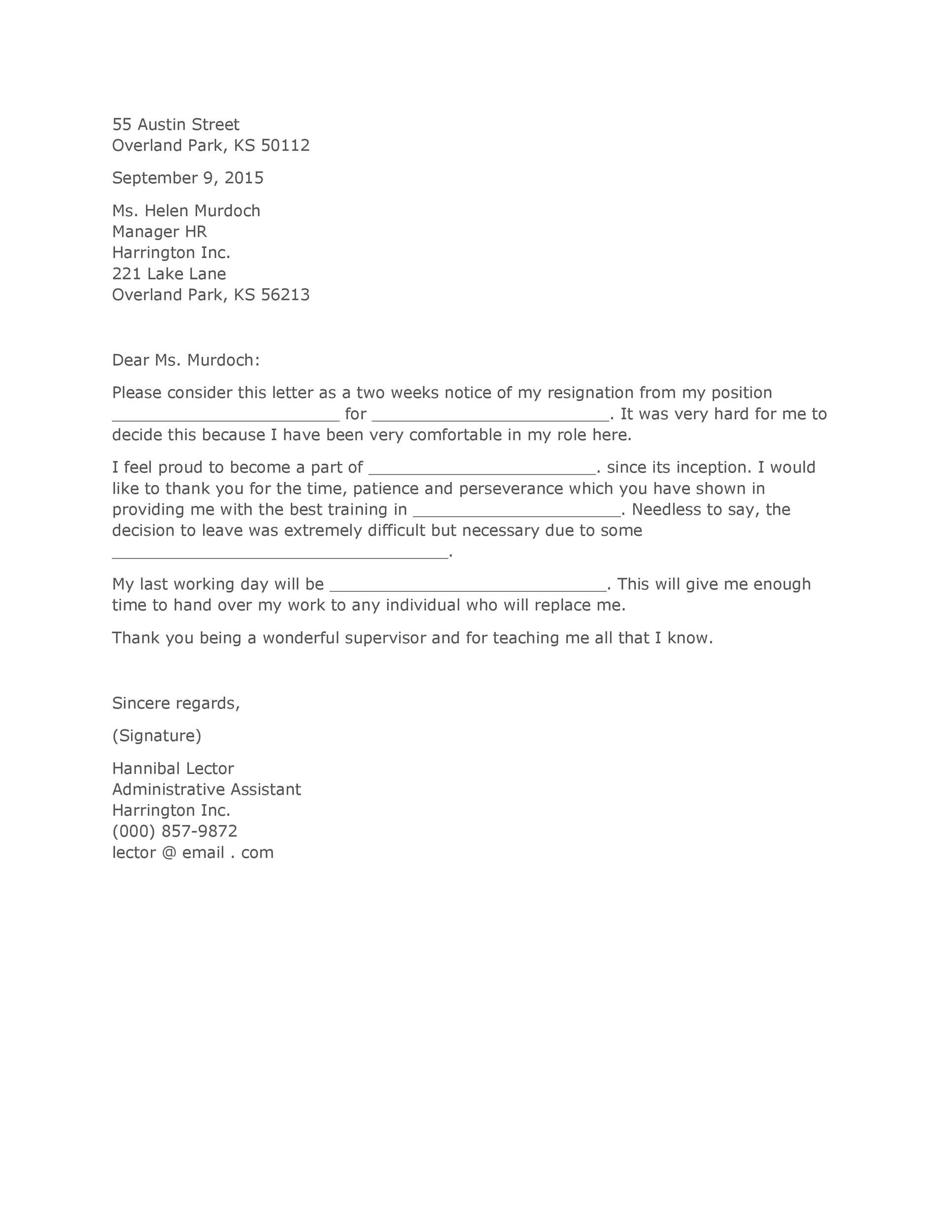 How to Write a Resignation Letter (Examples + Template ...