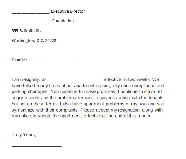 Printable Two Weeks Notice 31  Two Week Resignation Letter