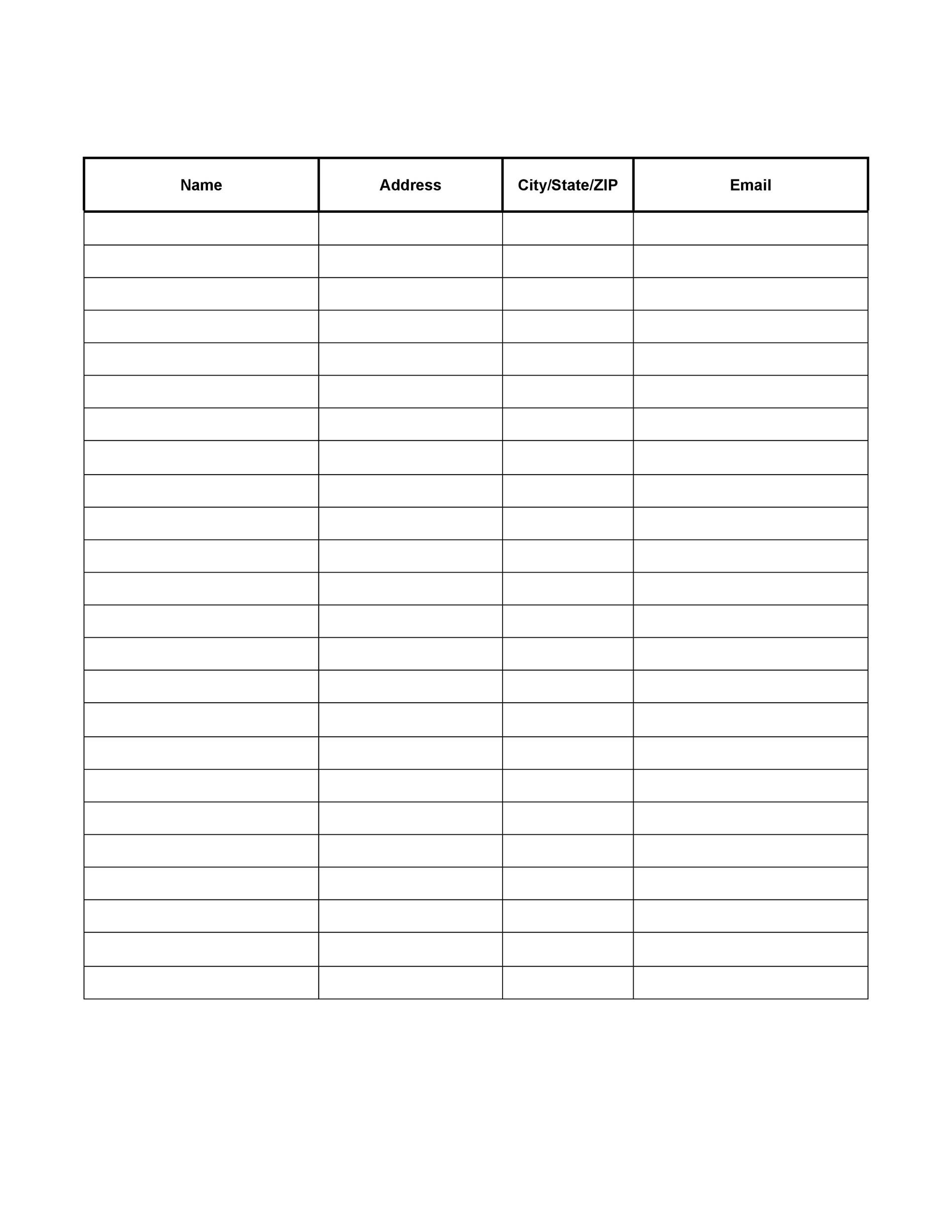 Free Sign-up Sheet Template  31