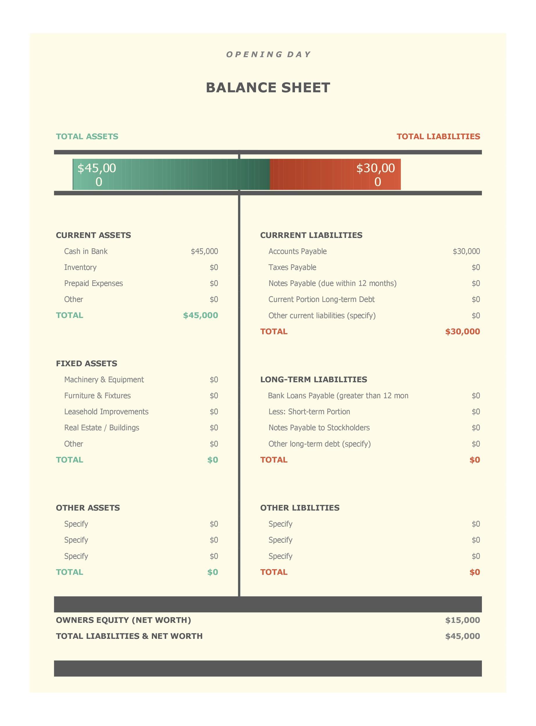 Free Balance Sheet Template 05