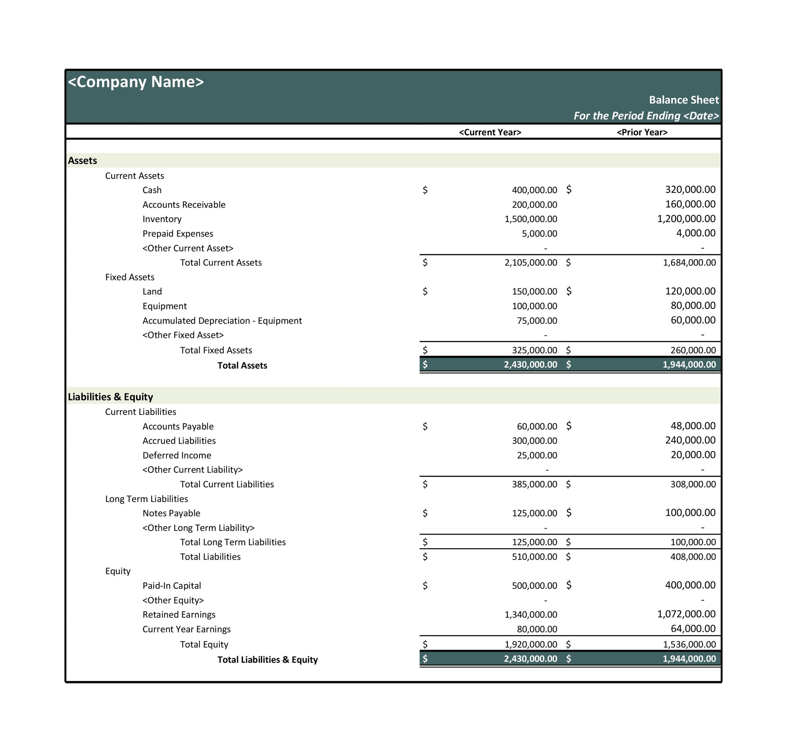 38 free balance sheet templates examples template lab printable balance sheet template 11 alramifo Images