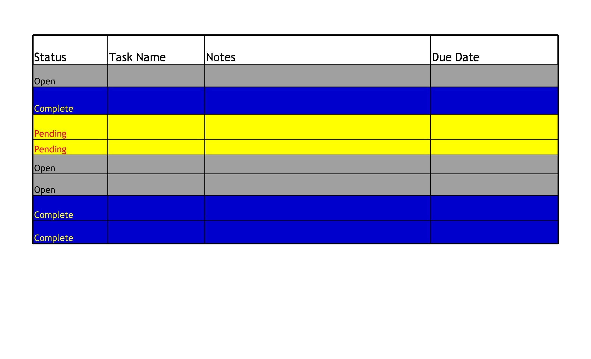 Free Checklist Template 07