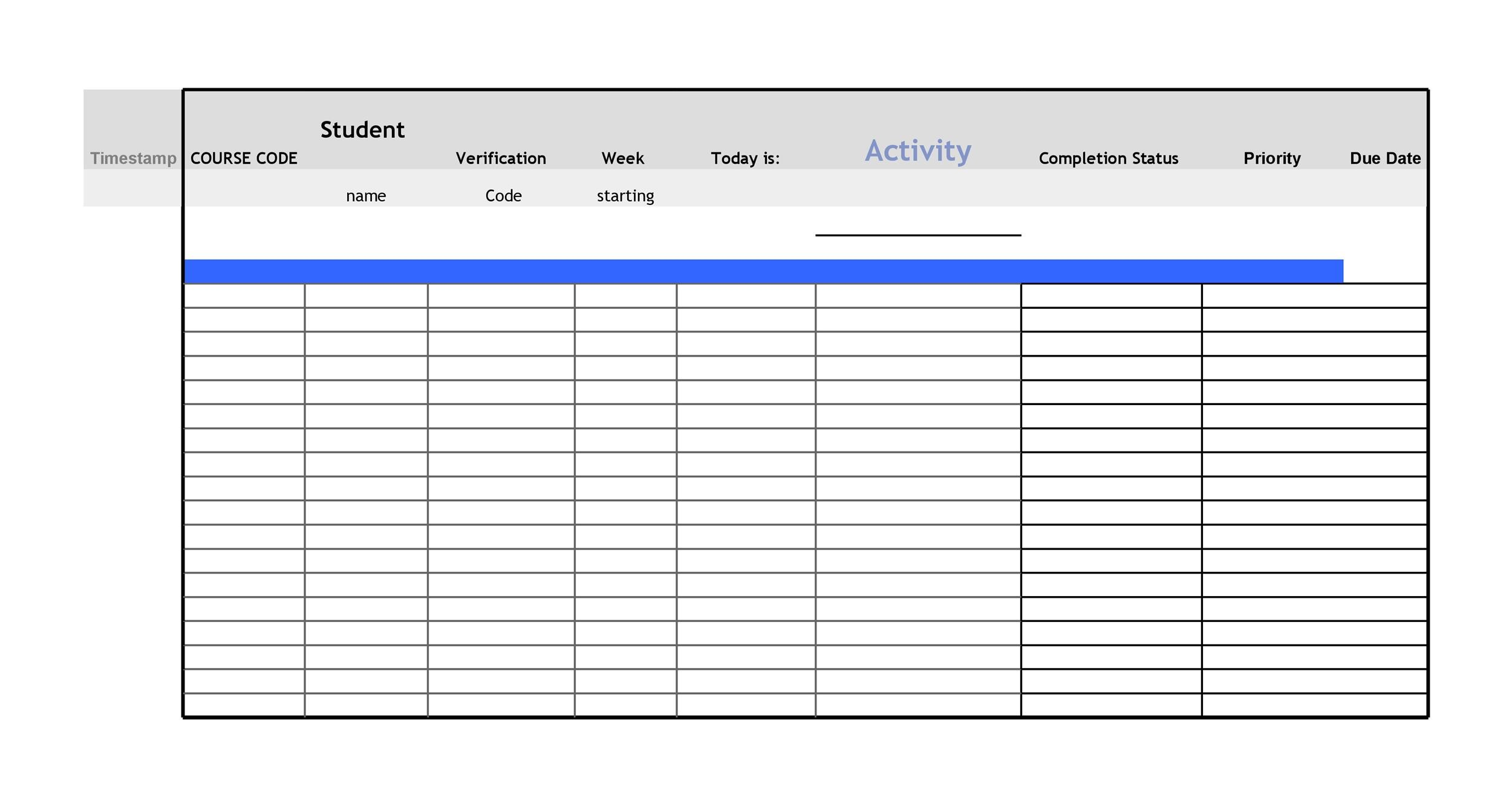 Blank Daily Checklist Template  Blank Calendars