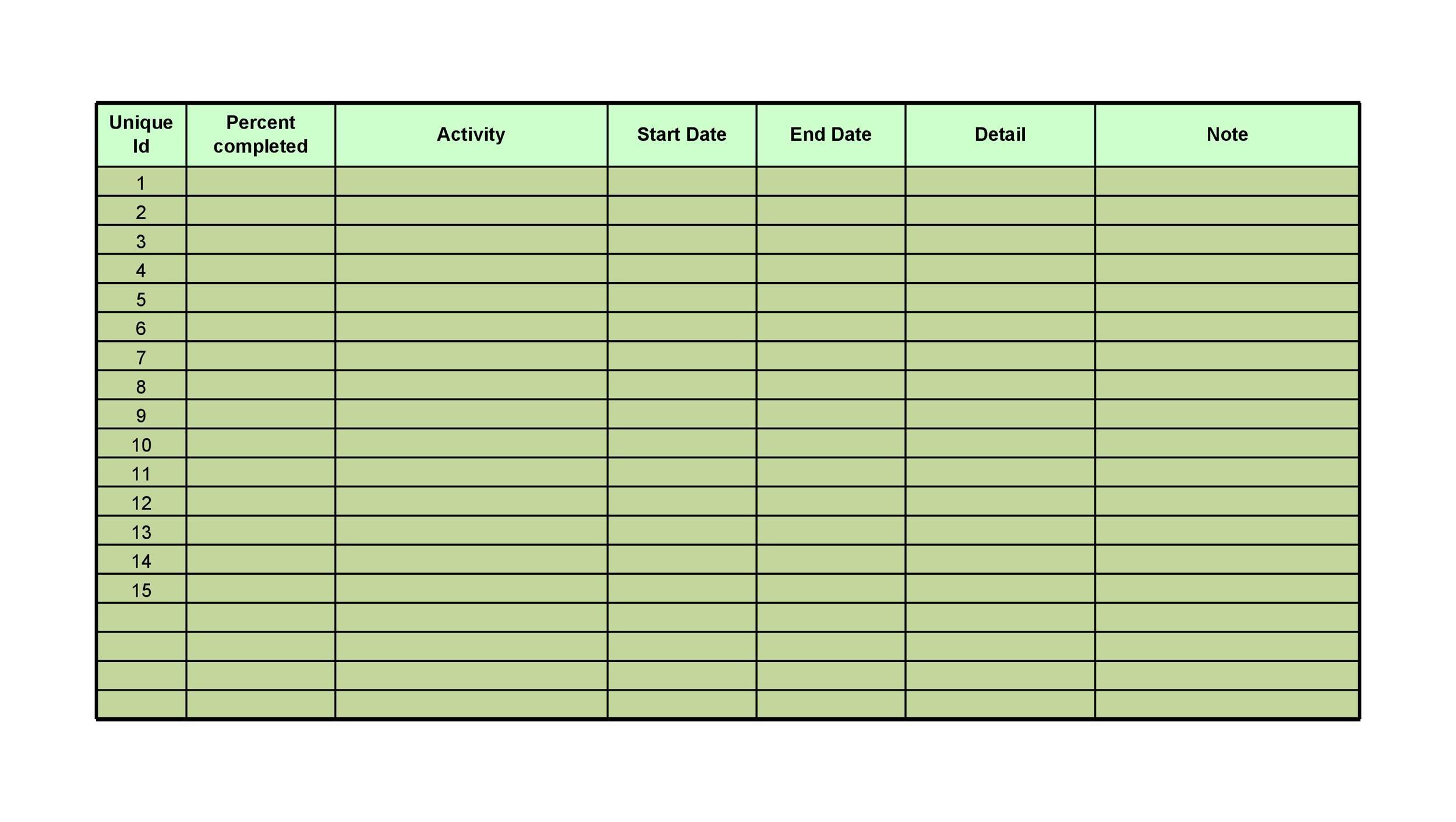 Free Checklist Template 17