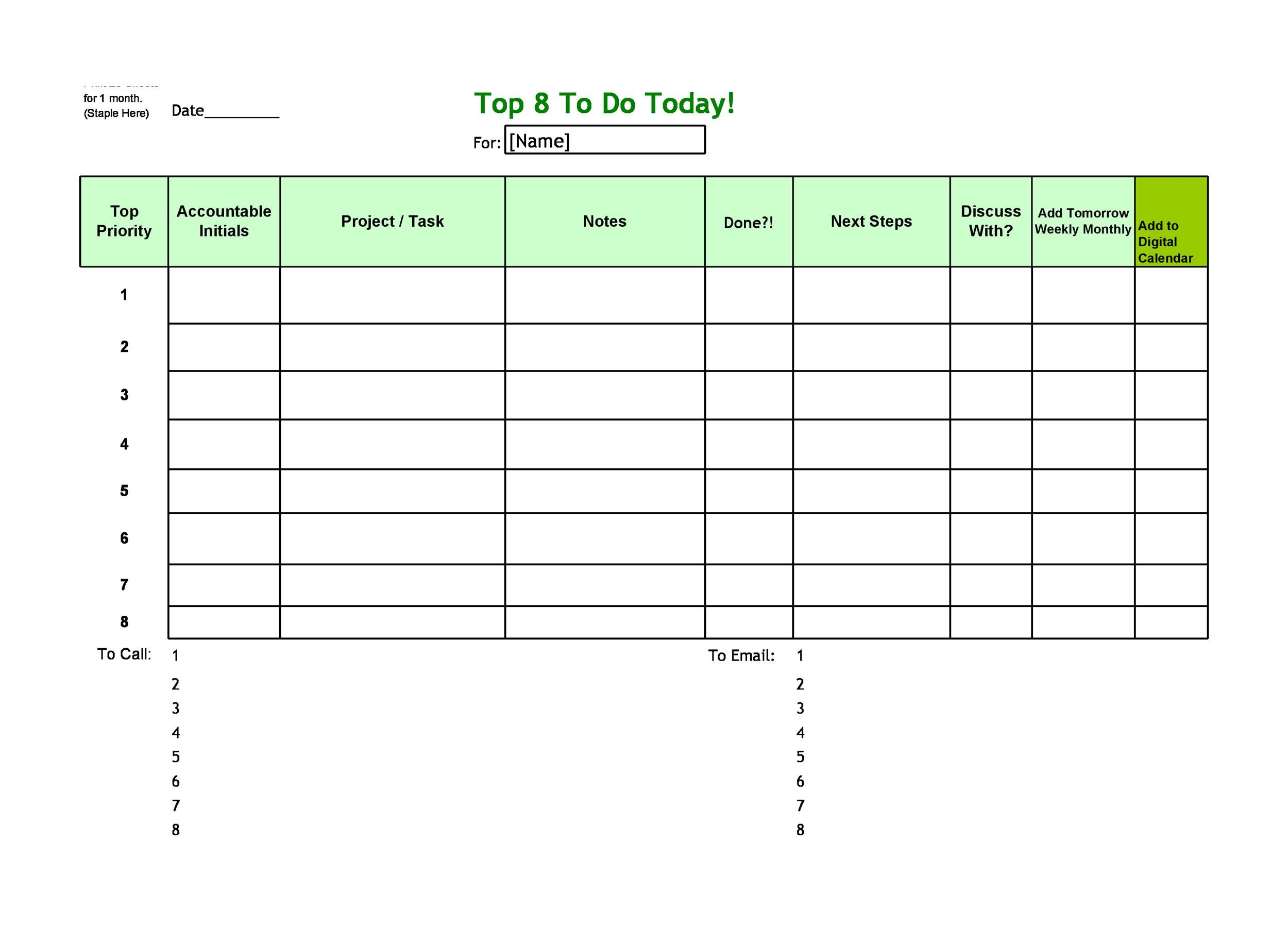 Free Checklist Template 21