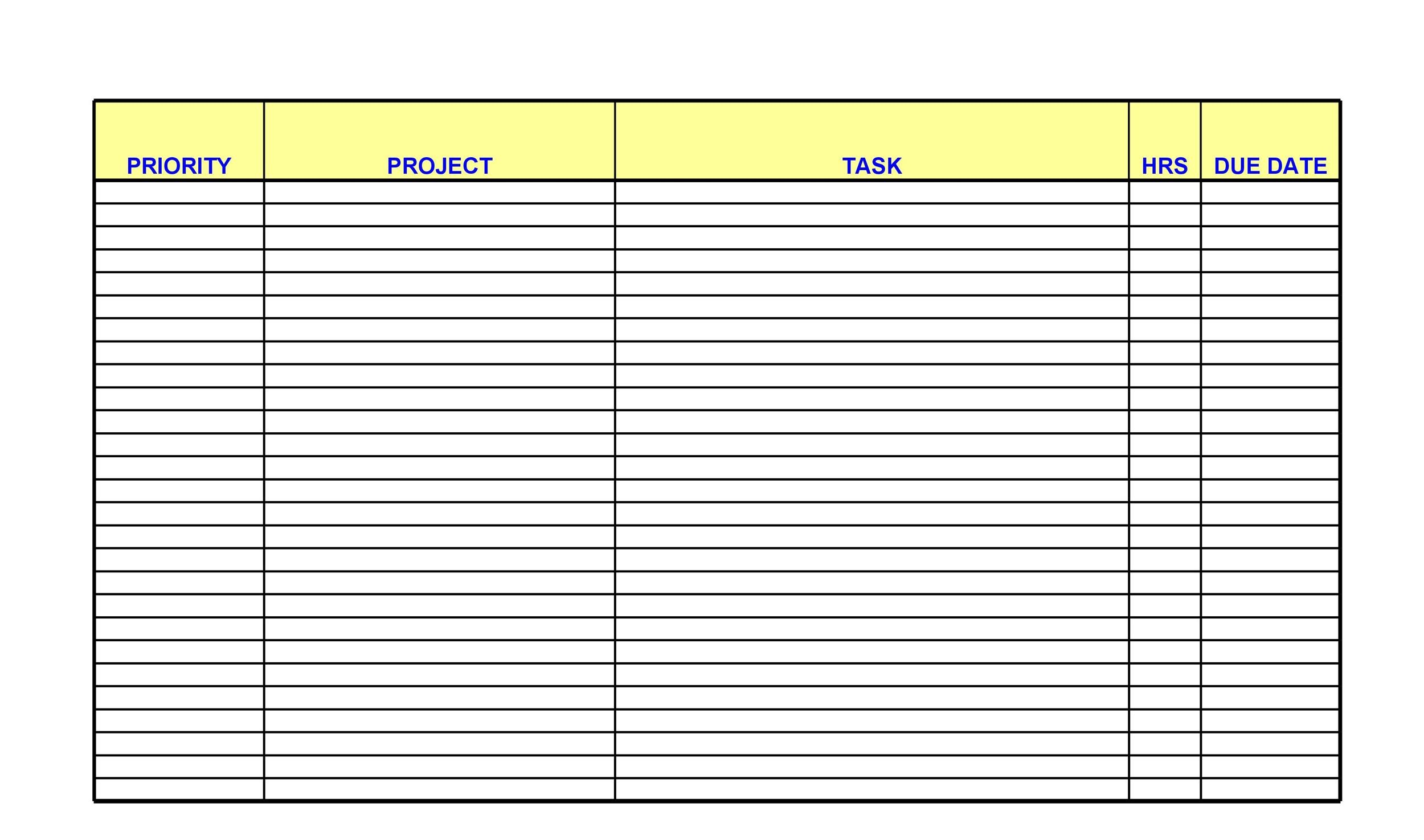 Free Checklist Template 22
