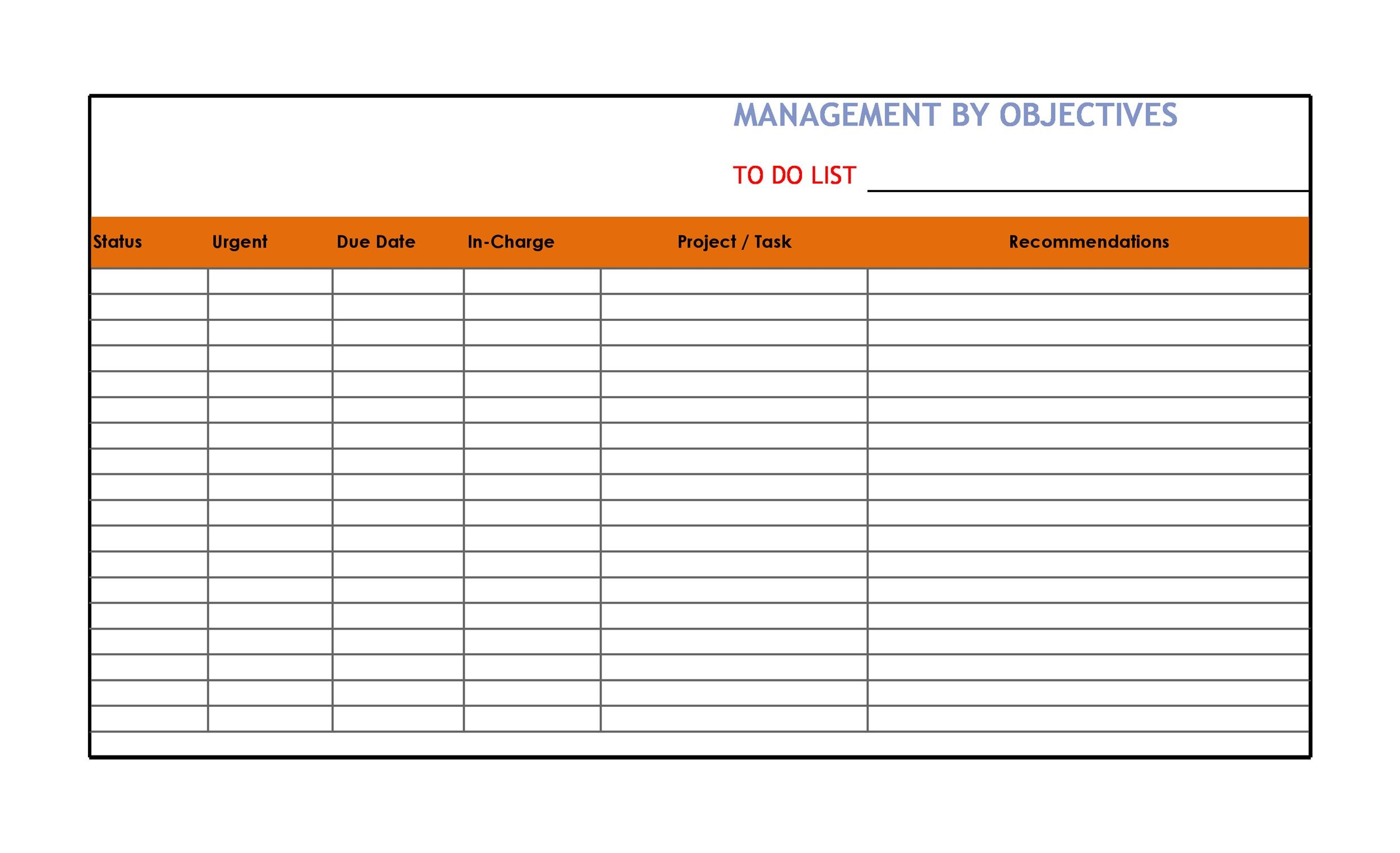 Free Checklist Template 23
