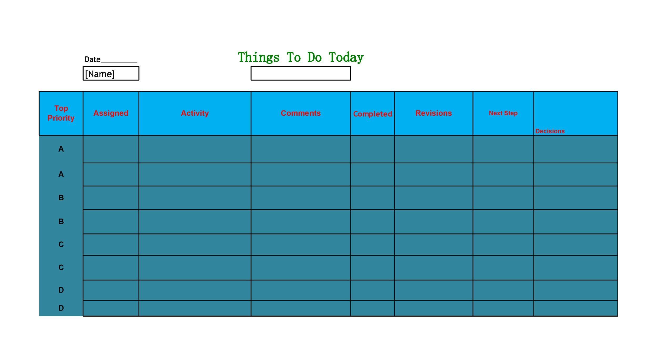 Free Checklist Template 29