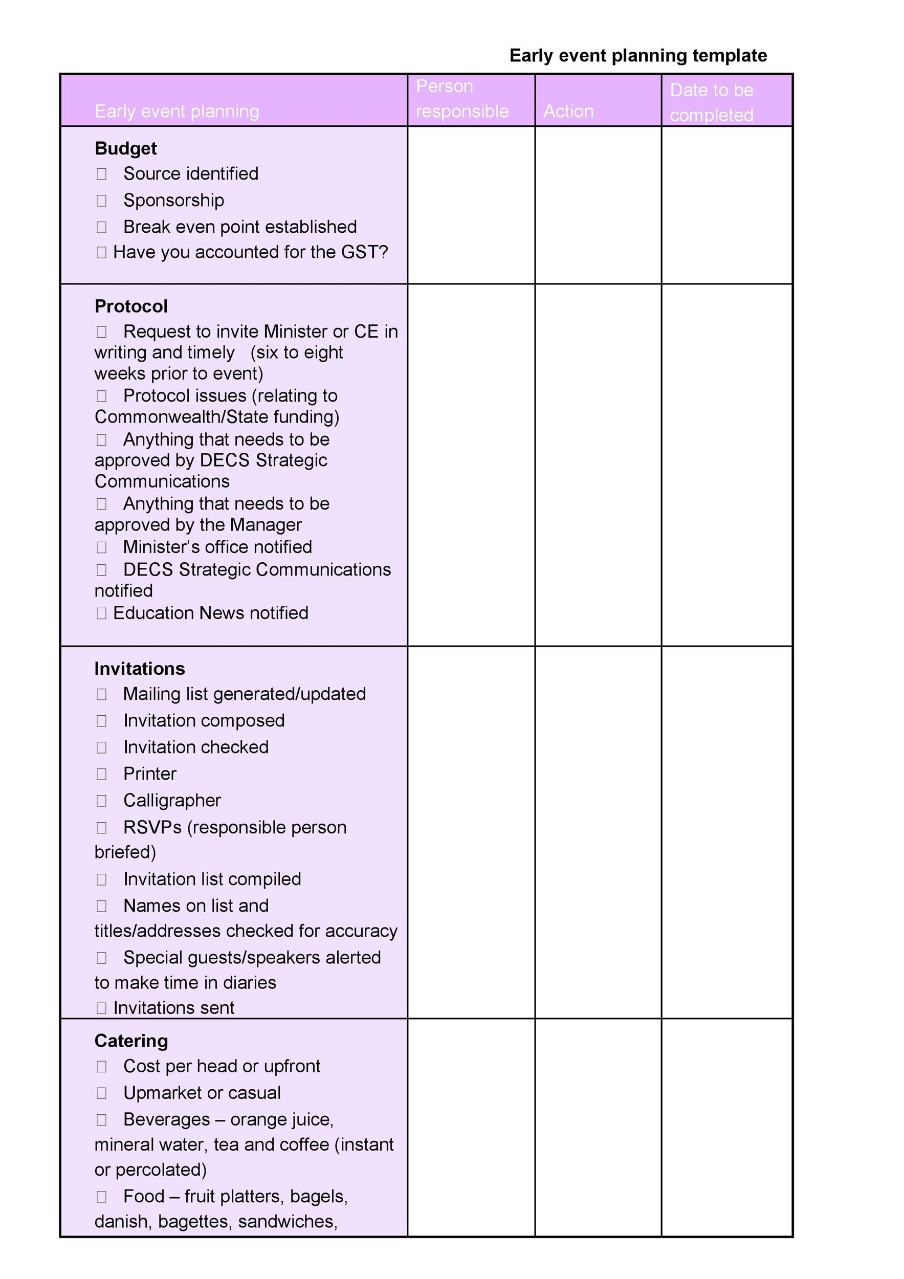Free Checklist Template 33
