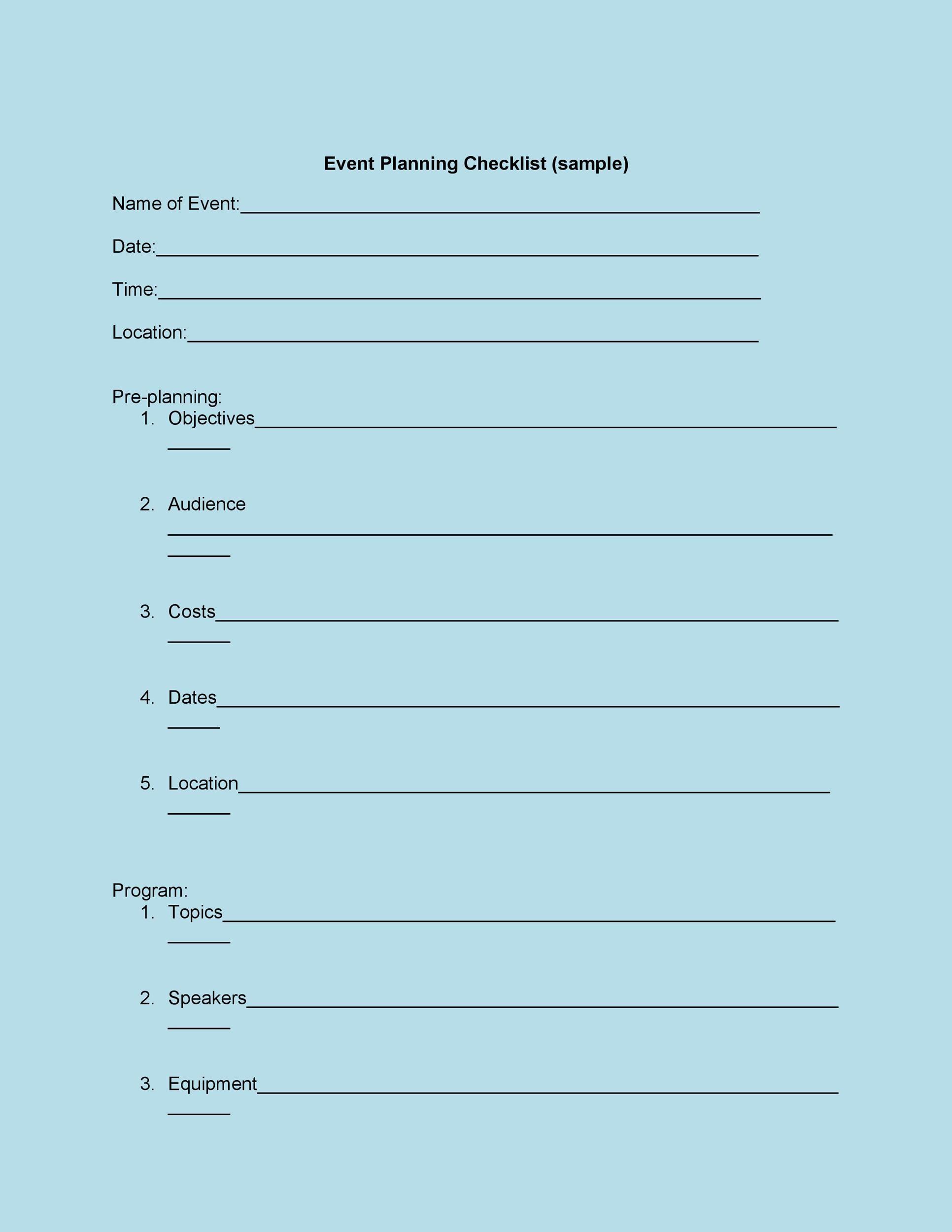Free Checklist Template 34