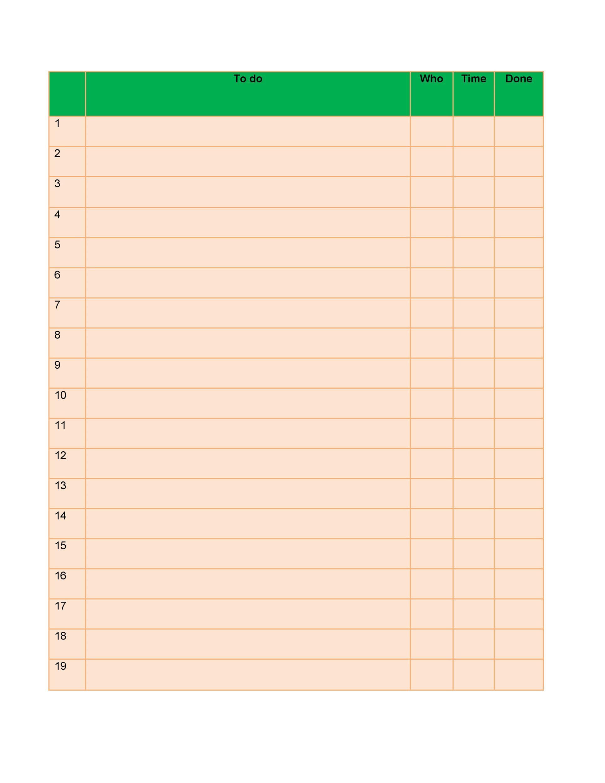 Checklist Template 35