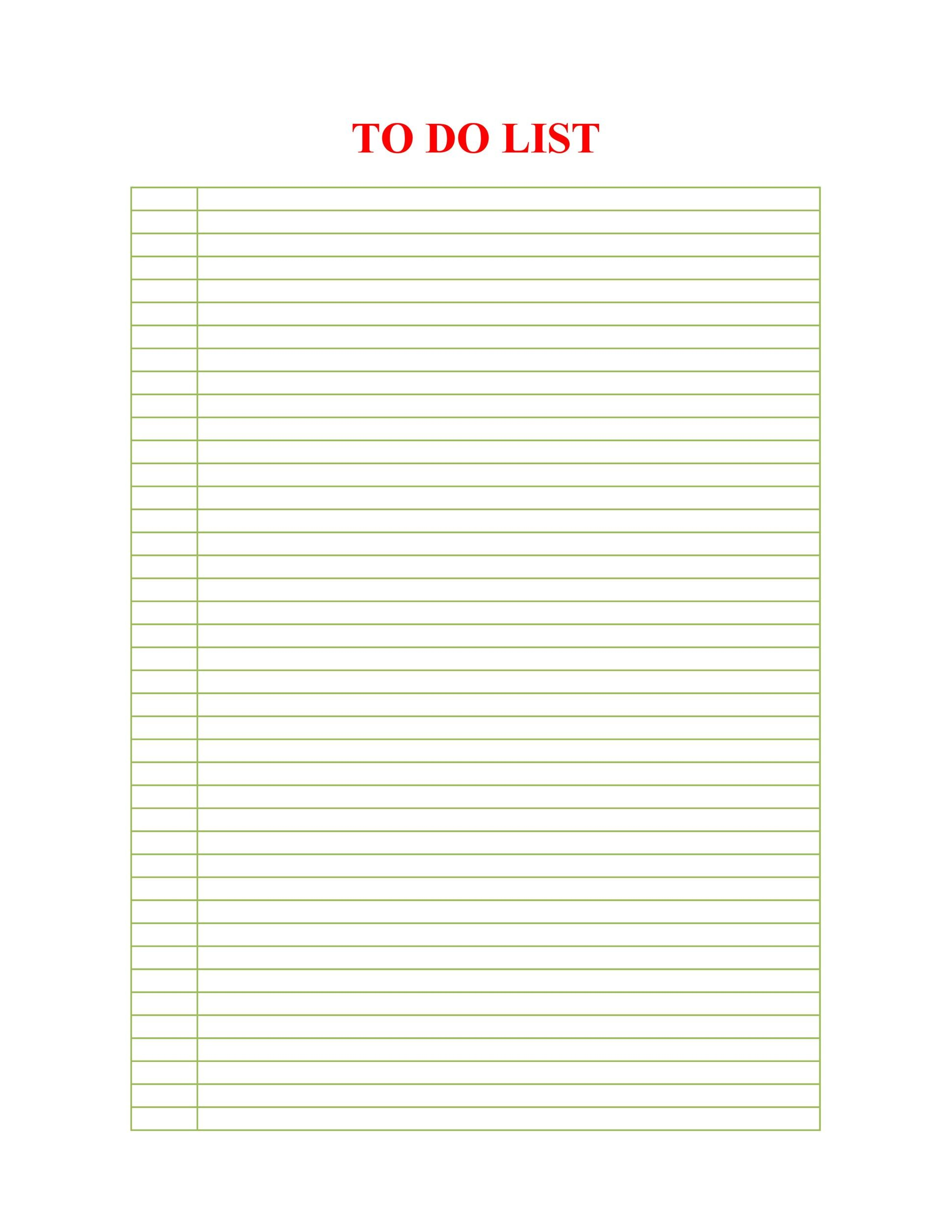 Free Checklist Template 39  Microsoft Word To Do List Template