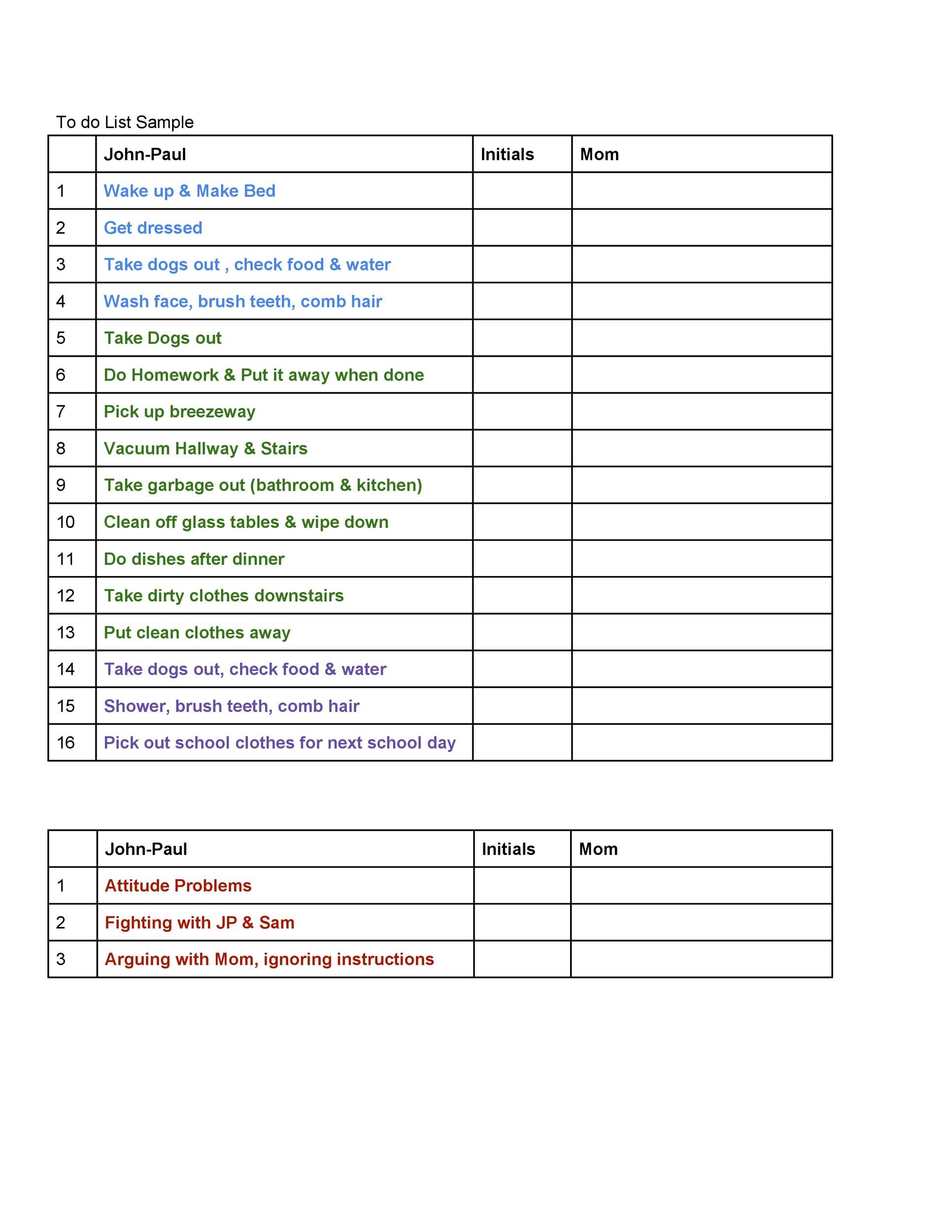 Checklist Template 40