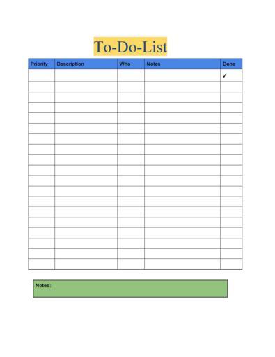 To Do List & Checklist Templates
