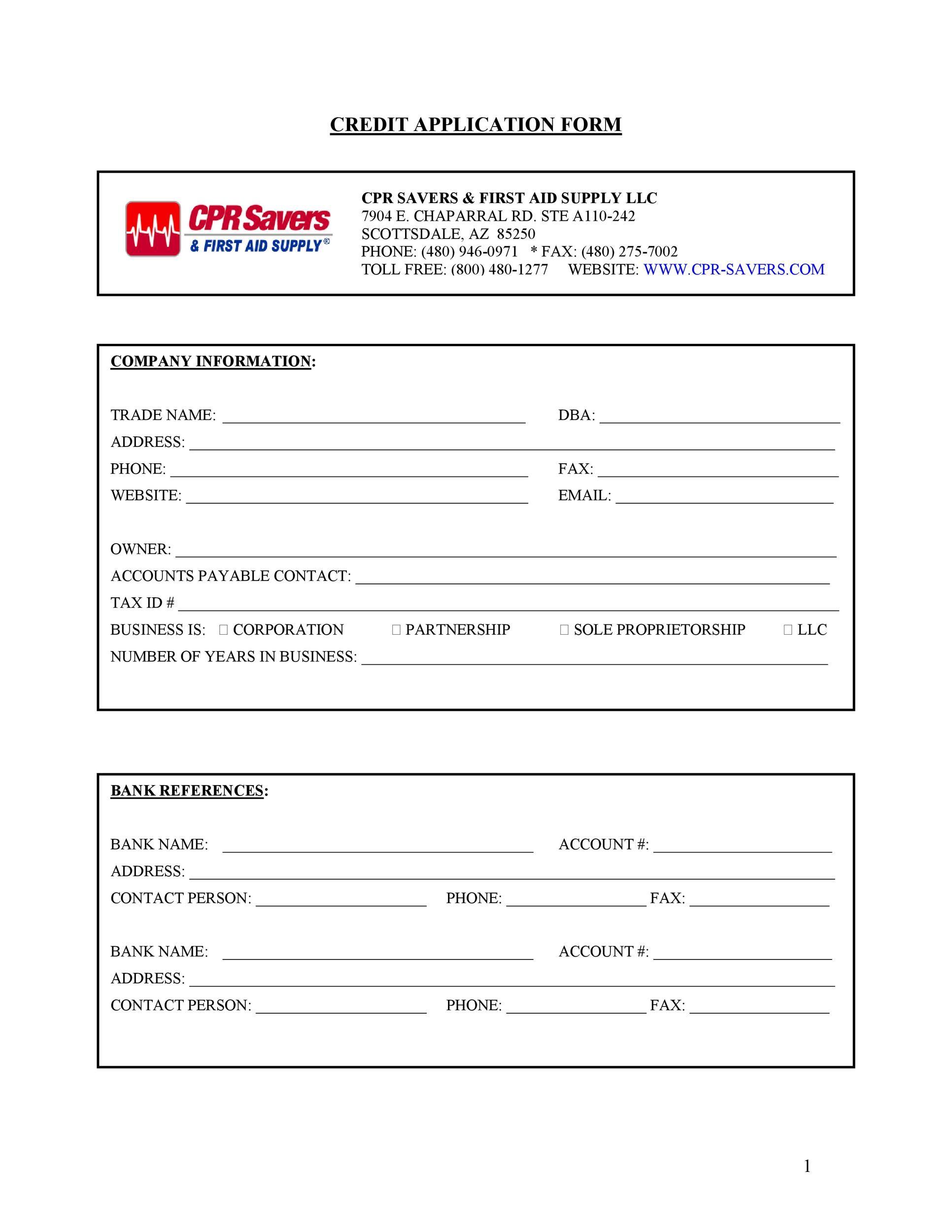 40 free credit application form templates  u0026 samples