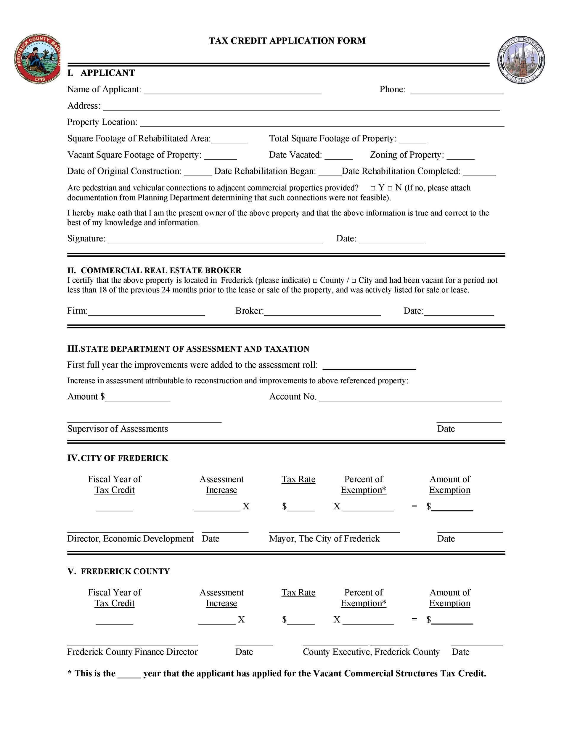 Free Credit Application Form 35