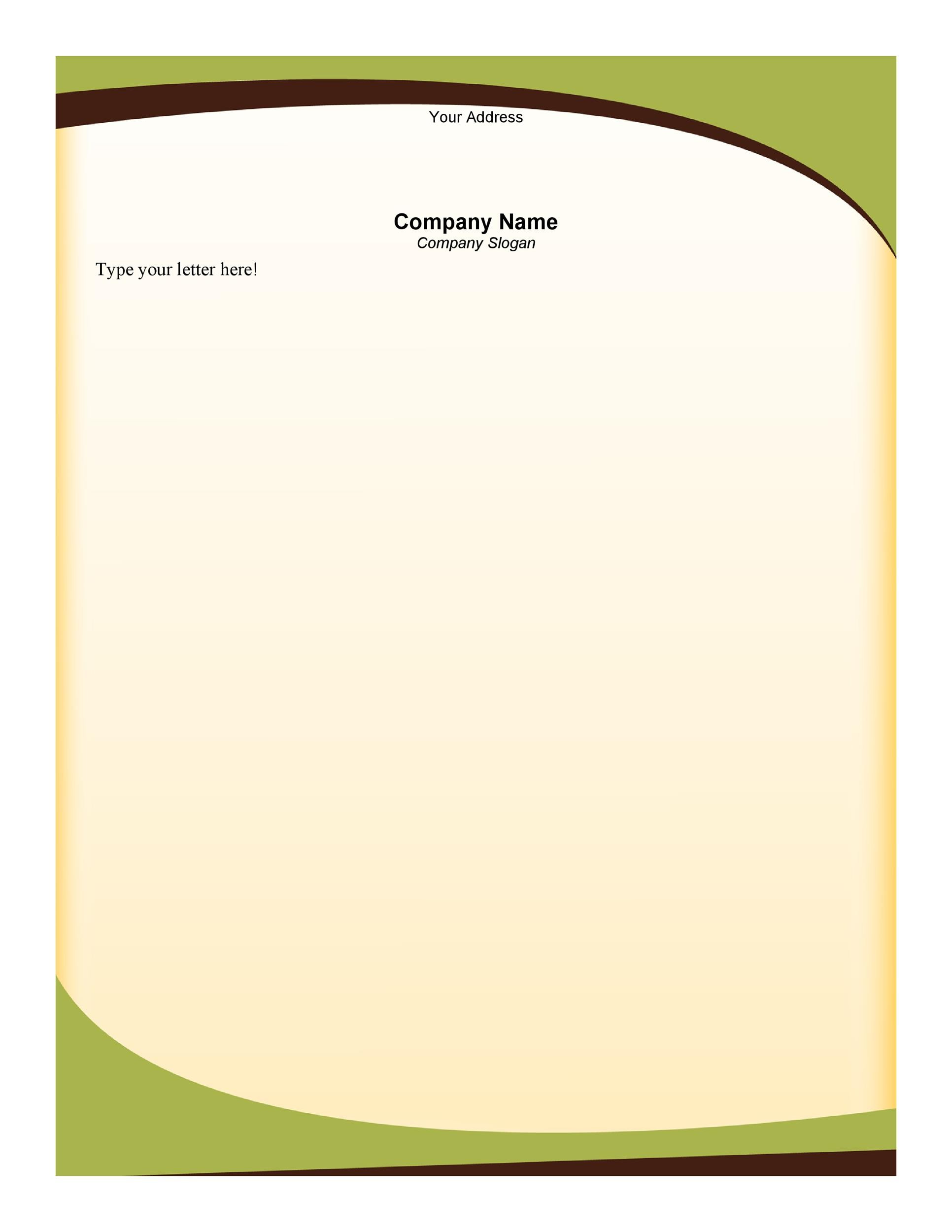 business letter template with letterhead