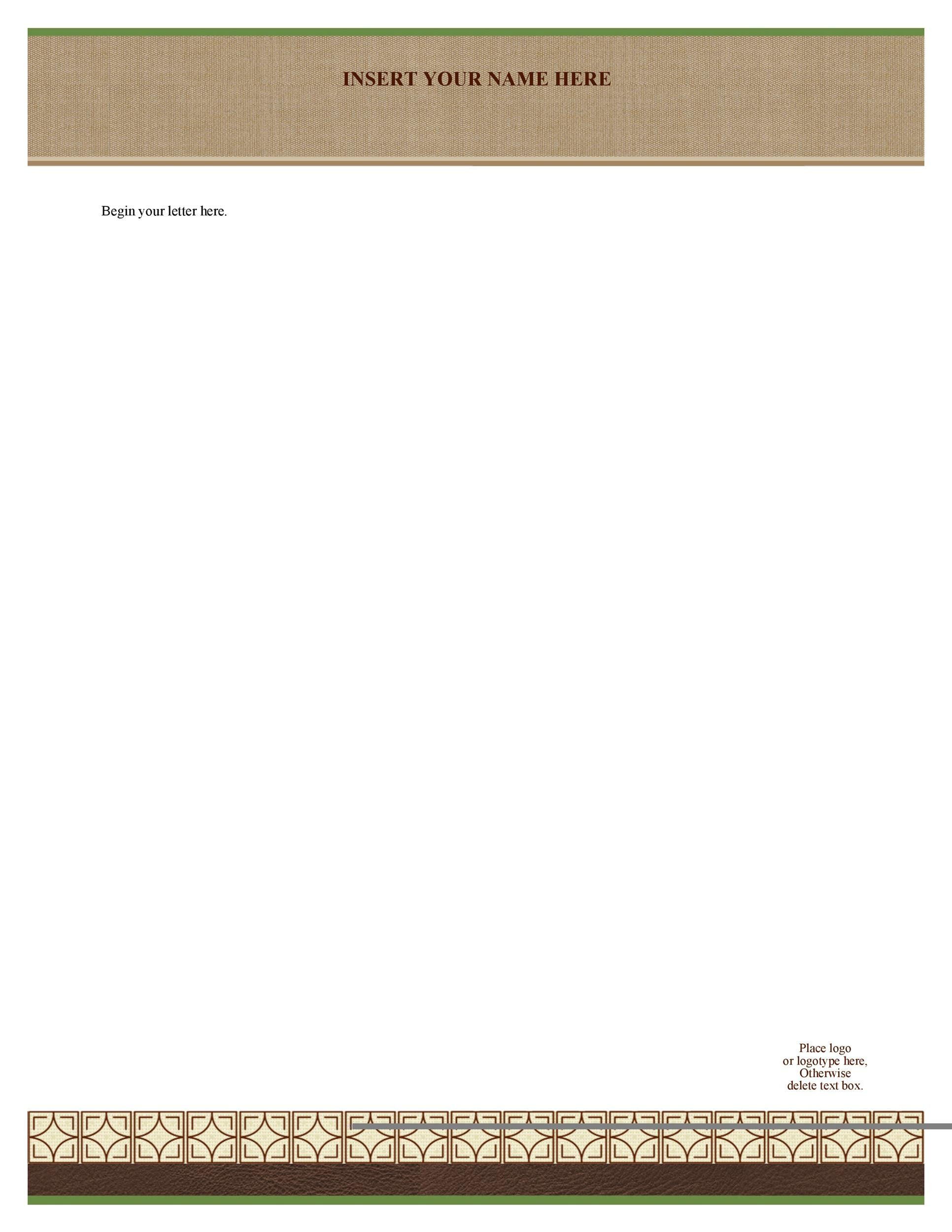 Free Letterhead Template 10  Free Letterhead Templates Download
