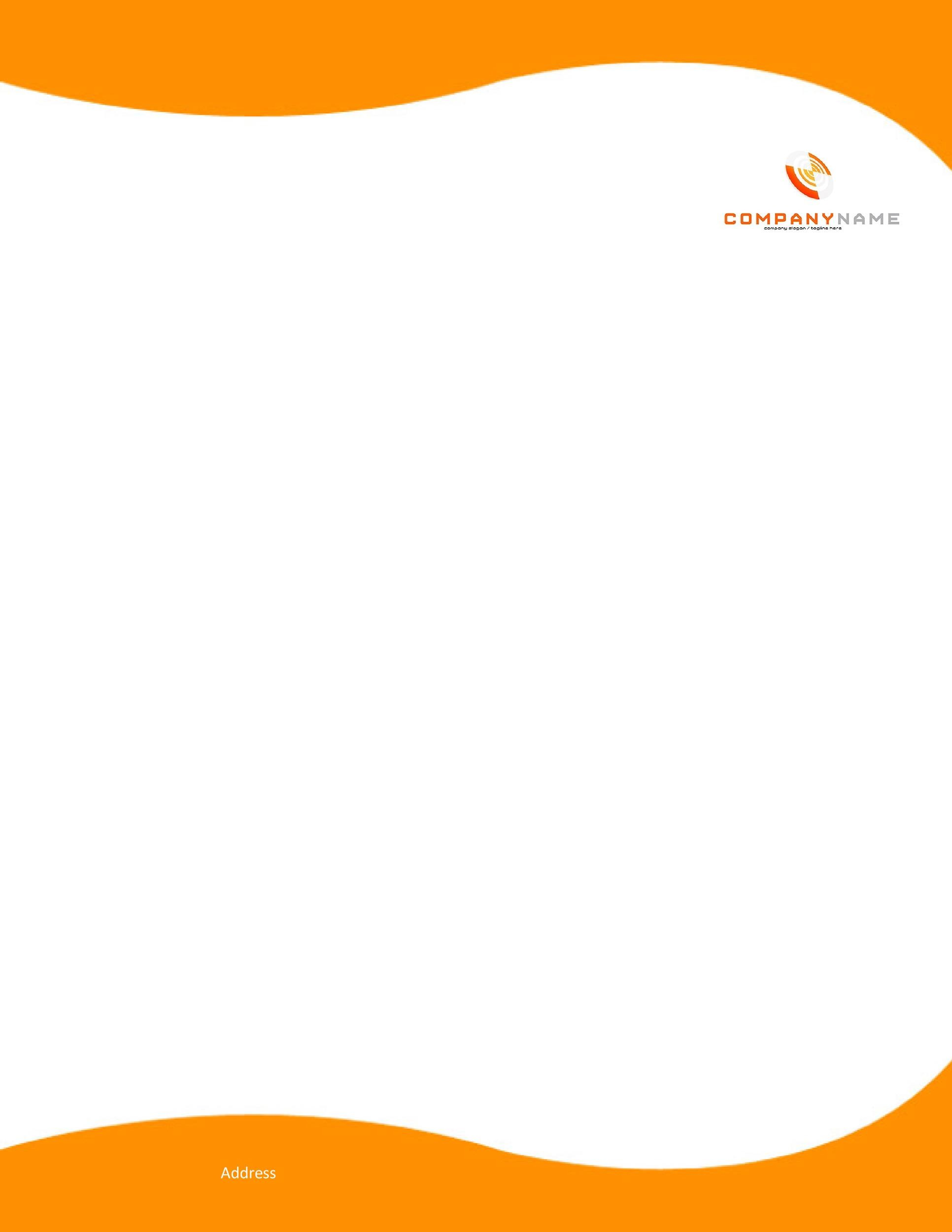 Printable Letterhead Template Word 01