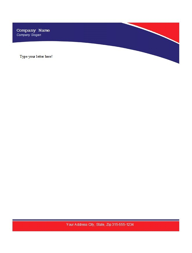 Letterhead templates microsoft word convert your design for Word letterhead template with logo