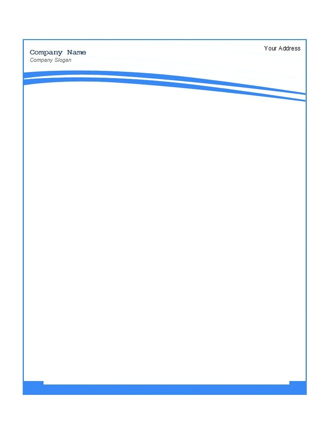 45 free letterhead templates examples company for Free letterhead templates for mac