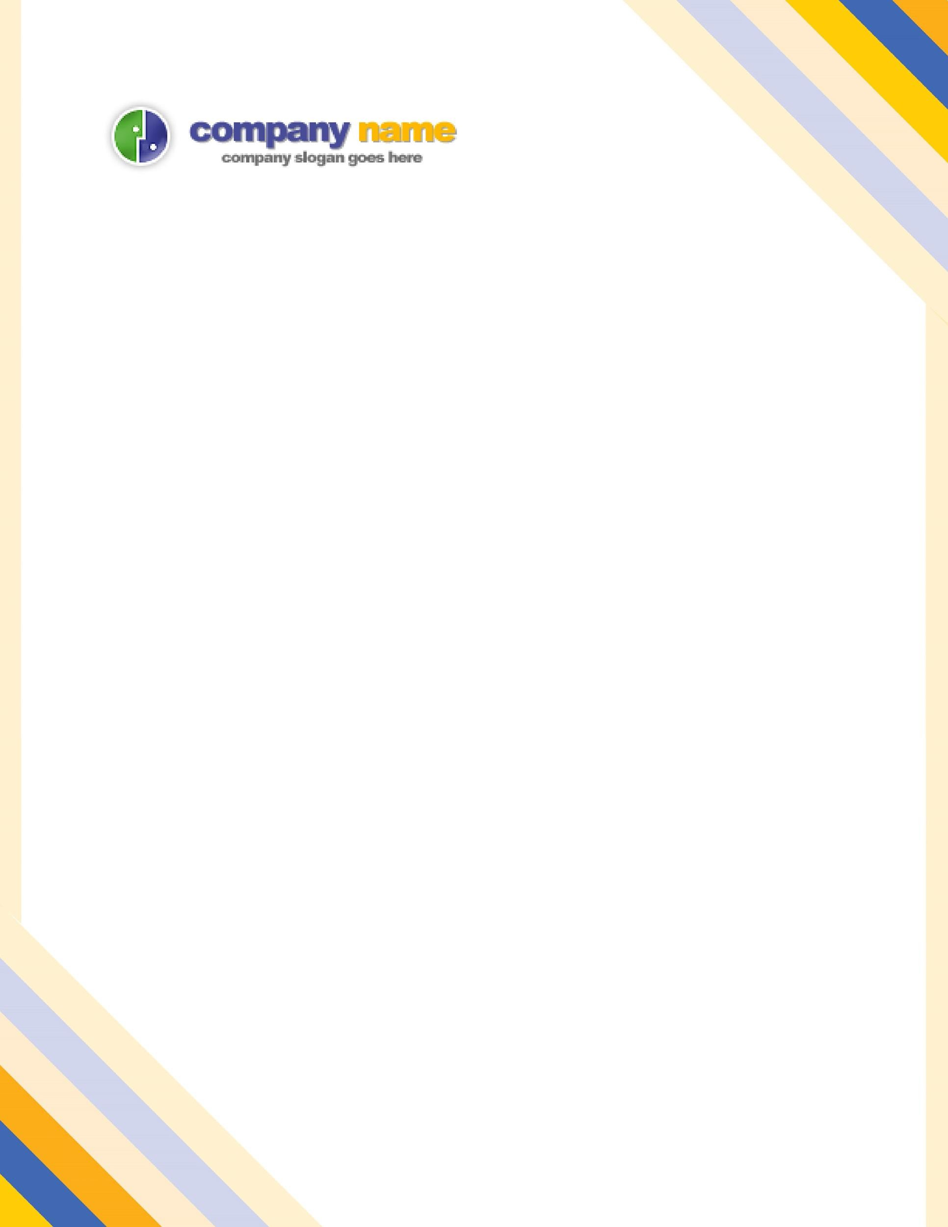 Printable Letterhead Template 21 On Free Company Letterhead
