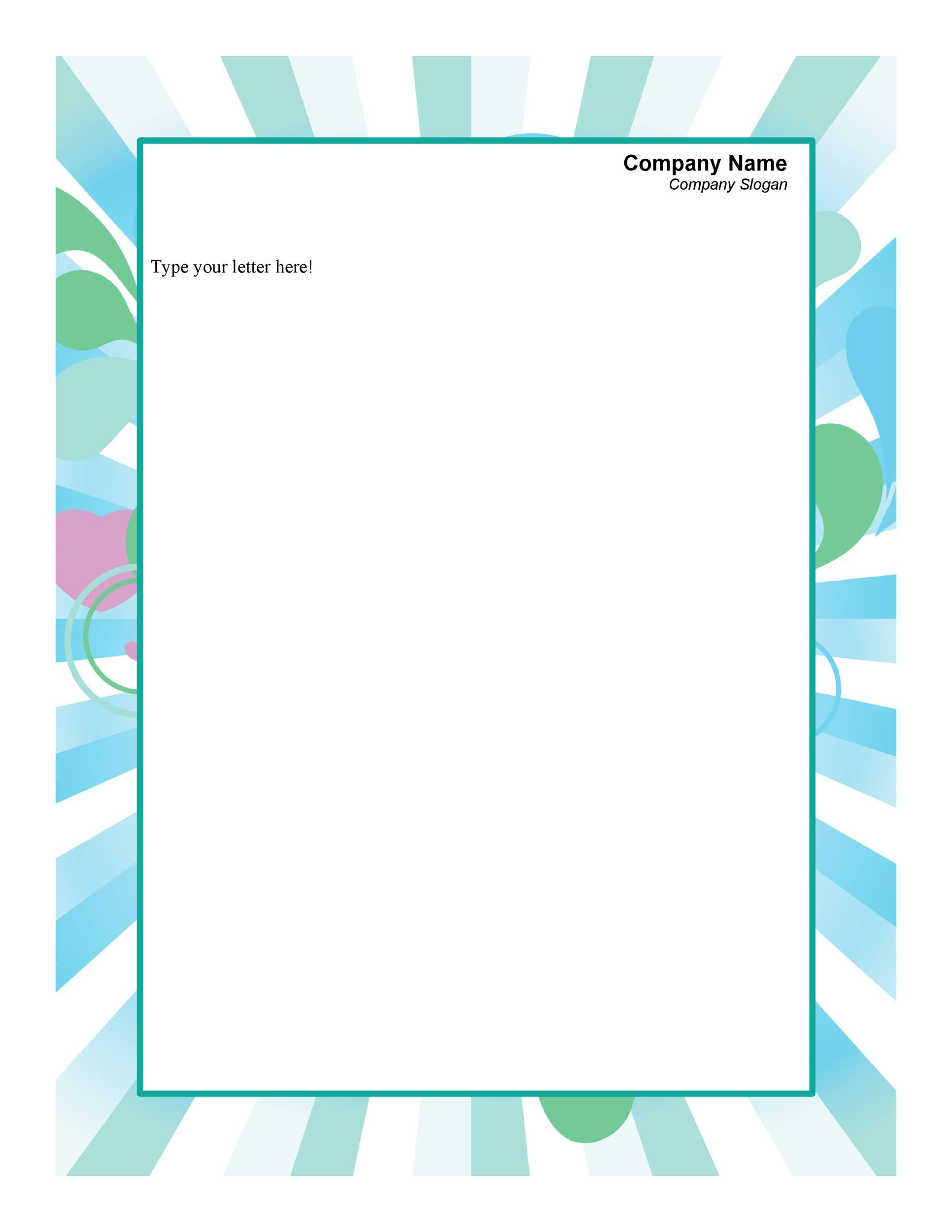 45 Free Letterhead Templates Examples Company Business Personal – Letterhead Format for Company